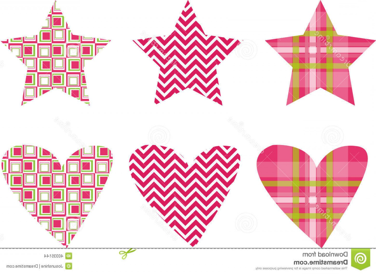 Vectors Heart And Star: Stock Images Cute Star Heart Pattern Vectors Vector Shapes Image