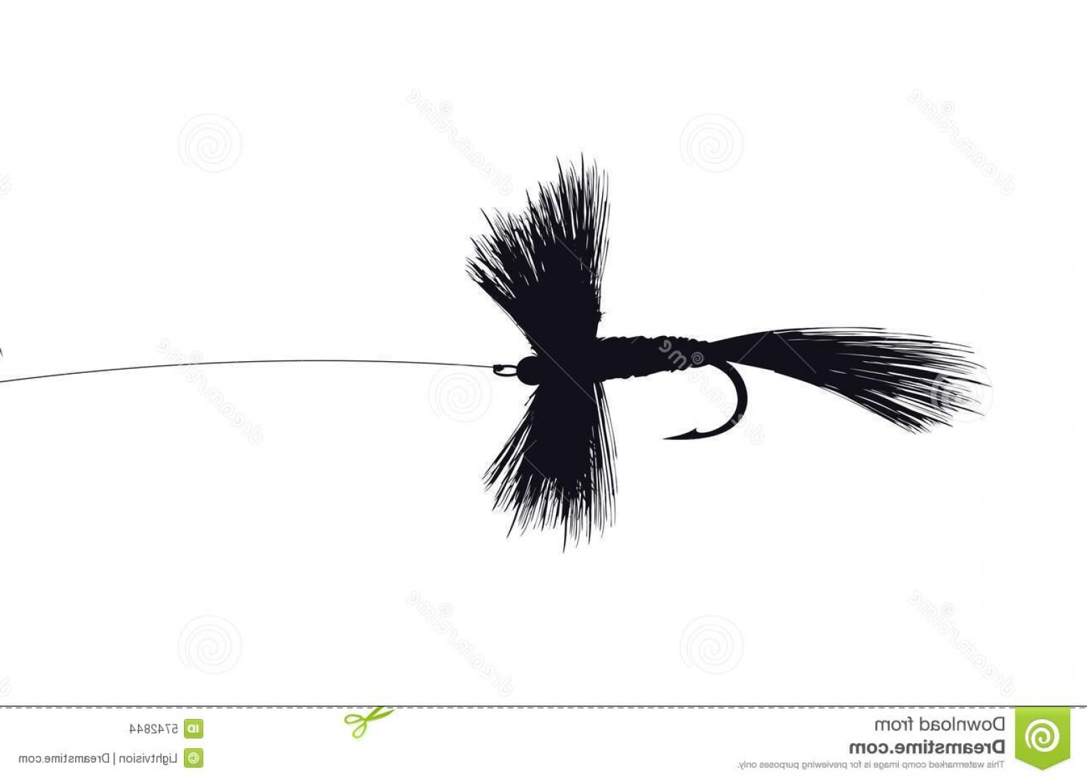 Detailed Vector Art Fly Fisherman: Stock Images Detailed Fishing Fly Image