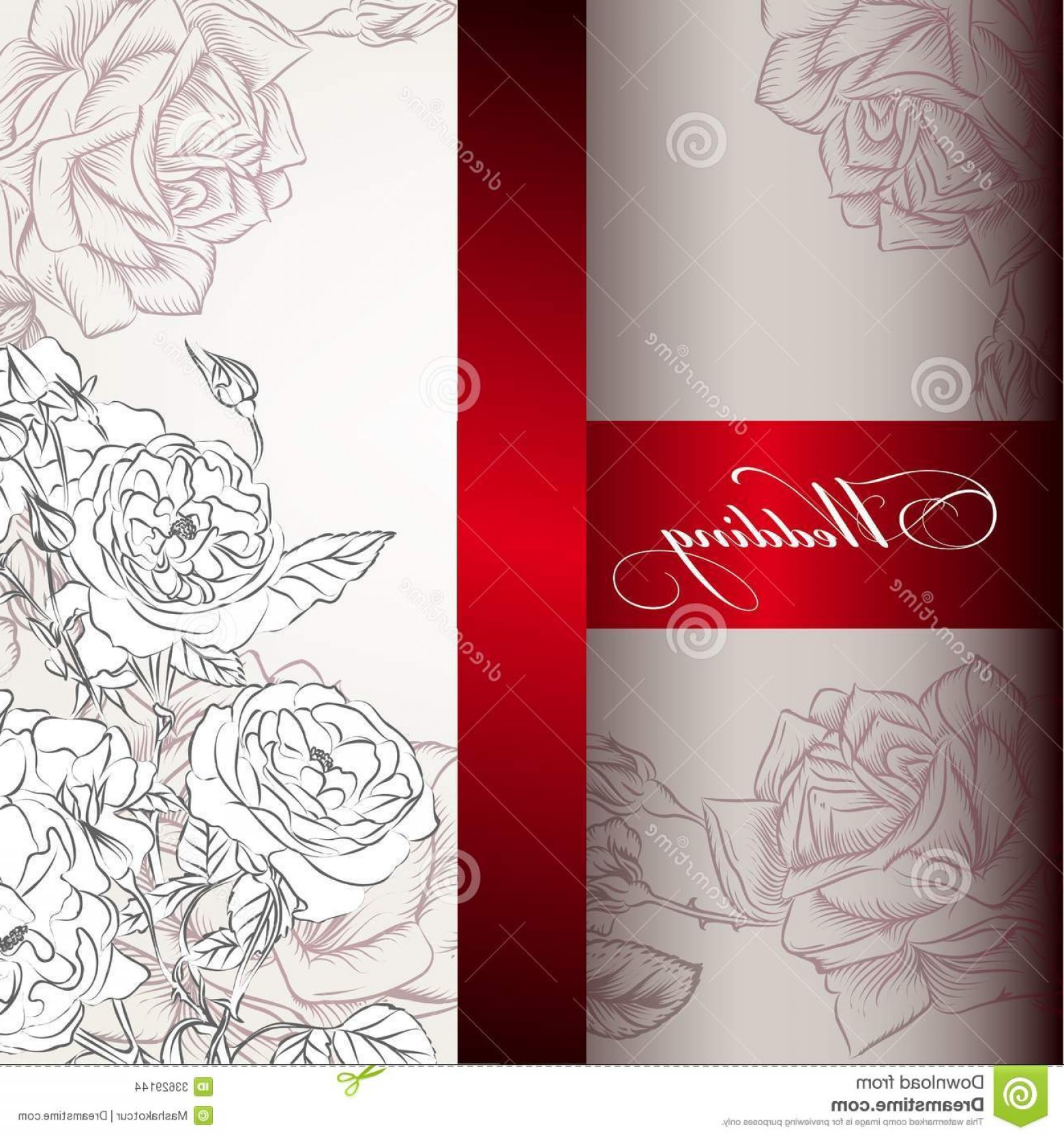 Stock Images Elegant Wedding Invitation Card Design Vector Hand ...