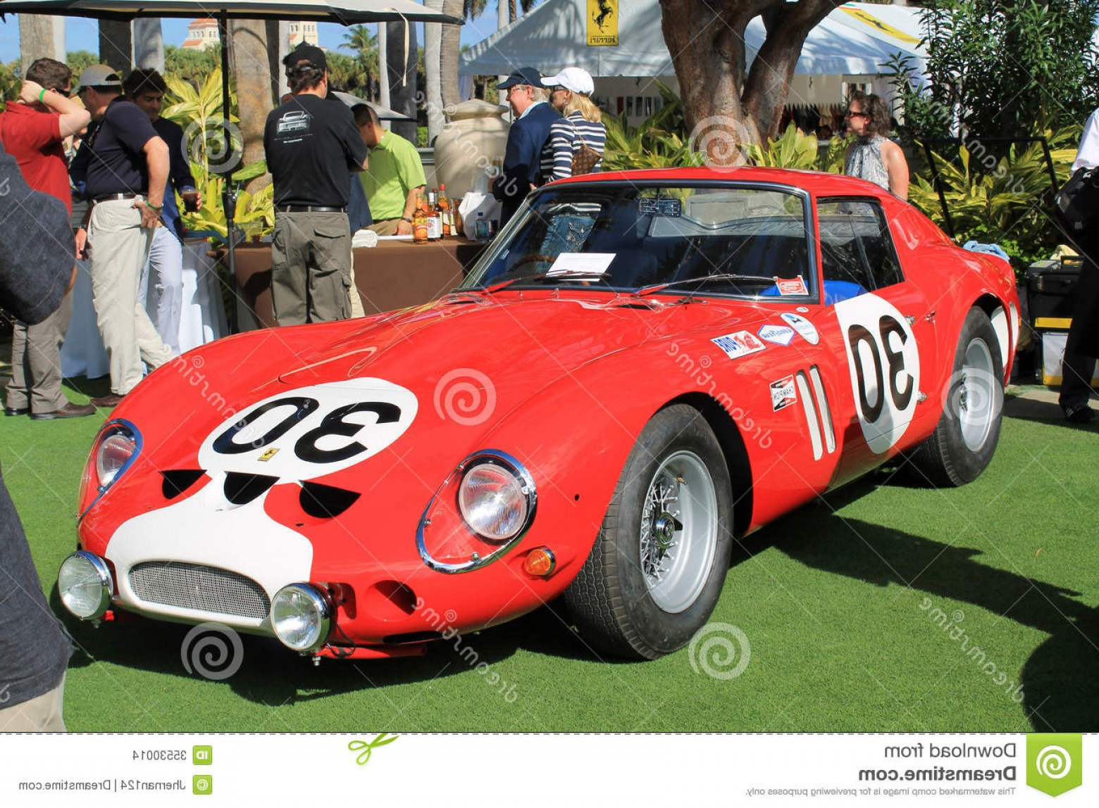 Race Car Grill Vector: Stock Images Ferrari Gto Racecar Front View Frontal Iconic Classic S Showing Grill Headlamps Racing Decals Air Intakes Surrounded Image
