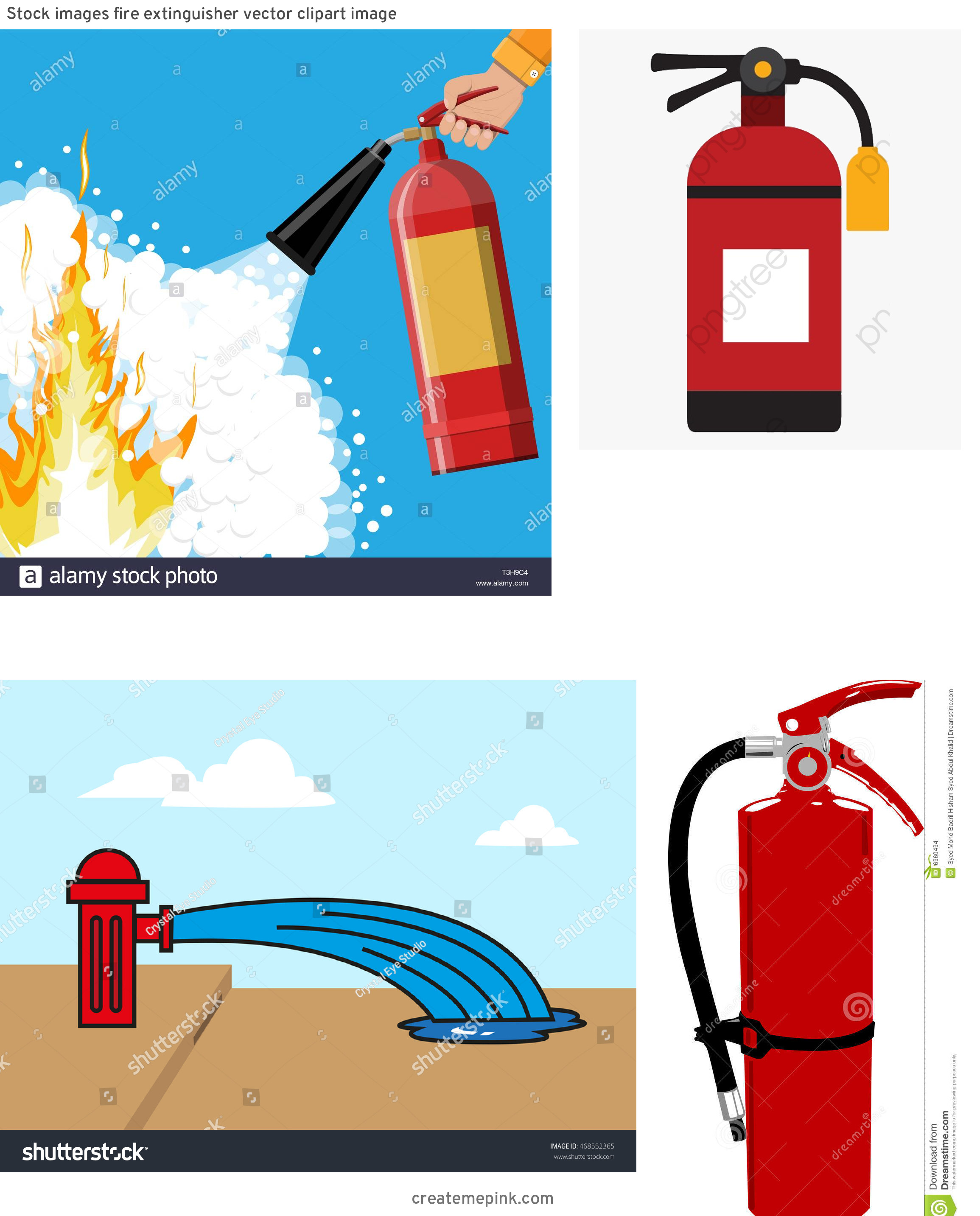 Fire Hydrant Vector Clip Art: Stock Images Fire Extinguisher Vector Clipart Image