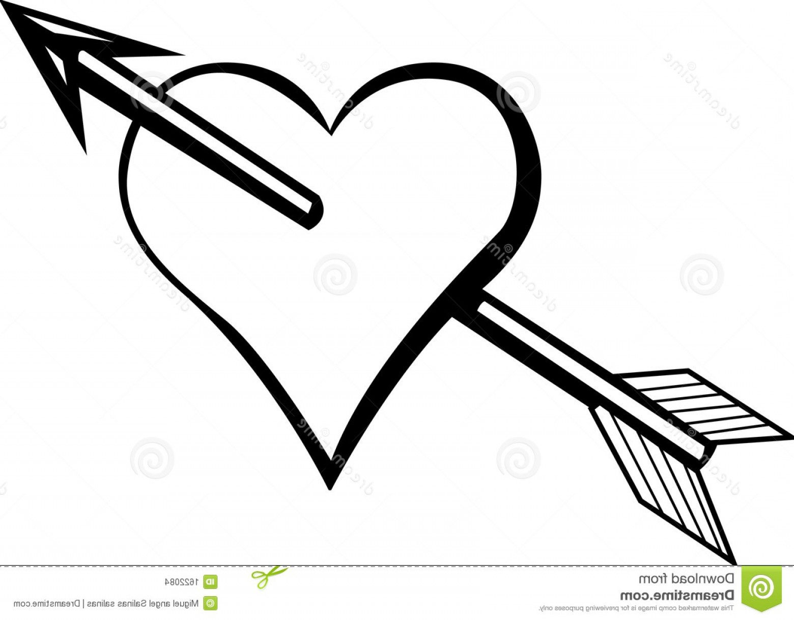 Love With Arrows Vector: Stock Images Heart Arrow Vector Illustration Image