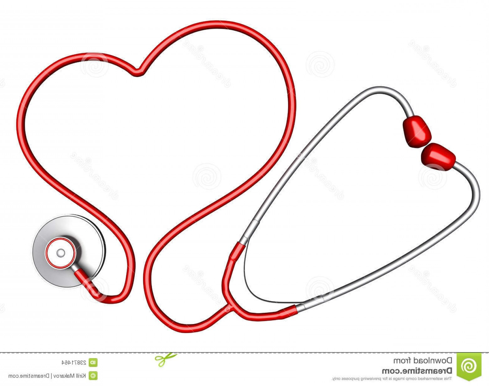 Stethoscope With Heart Vector Art: Stock Images Heart Shaped Stethoscope Image