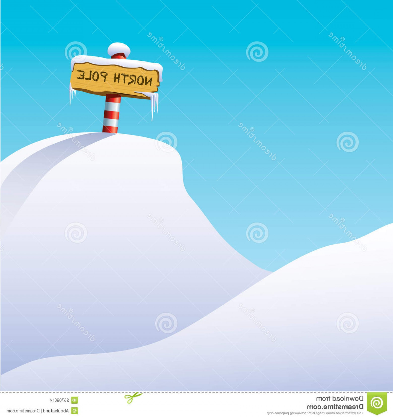 North Pole Landscape Vector: Stock Images Illustration North Pole Image