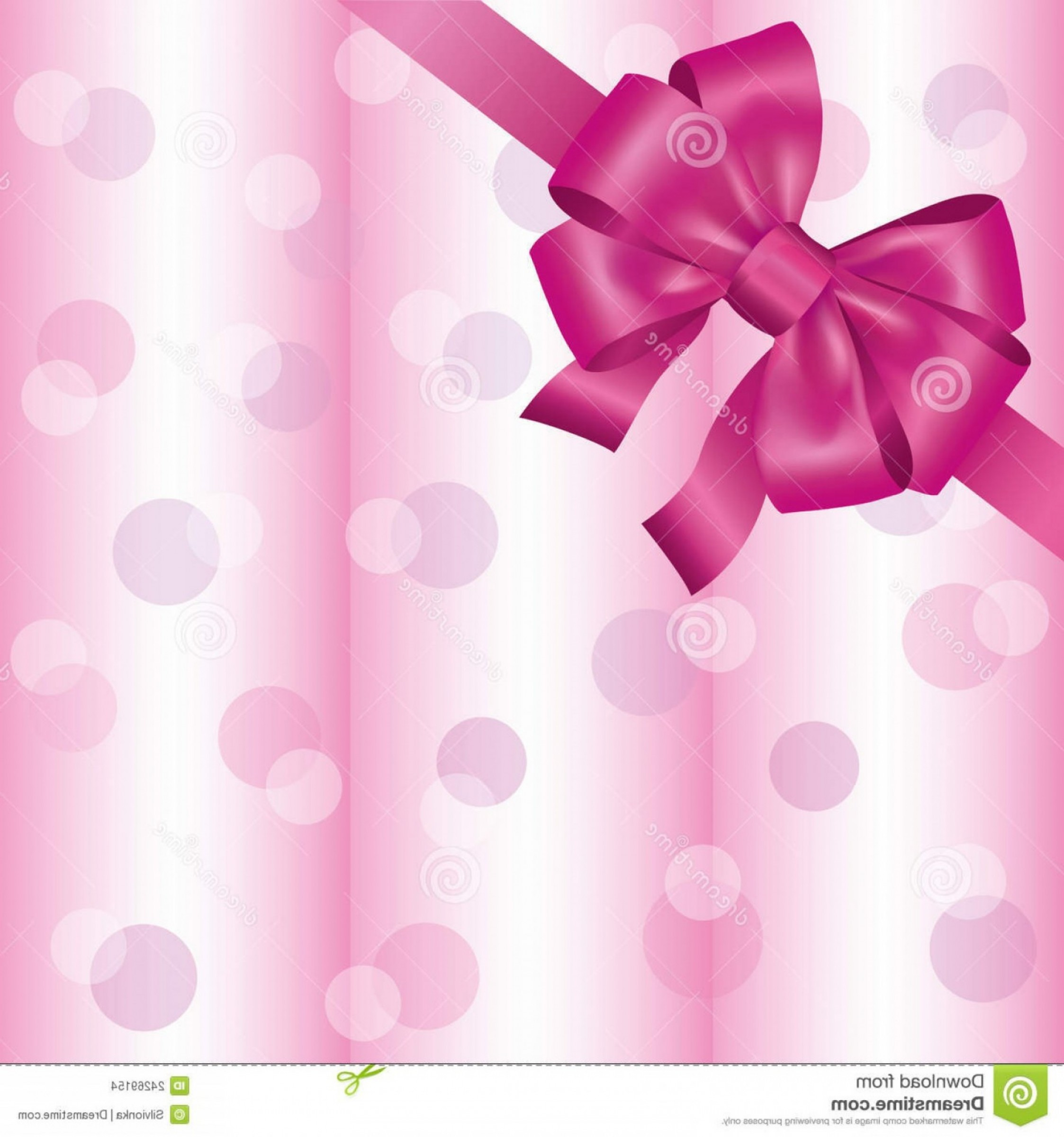 Pink Ribbon Vector Graphic: Stock Images Light Pink Background Ribbon Bow Image