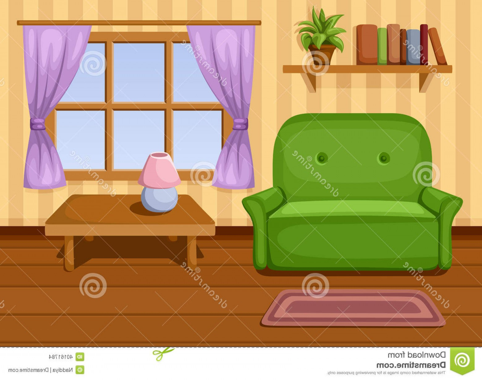 Vector Background For Living Room: Stock Images Living Room Vector Illustration Image