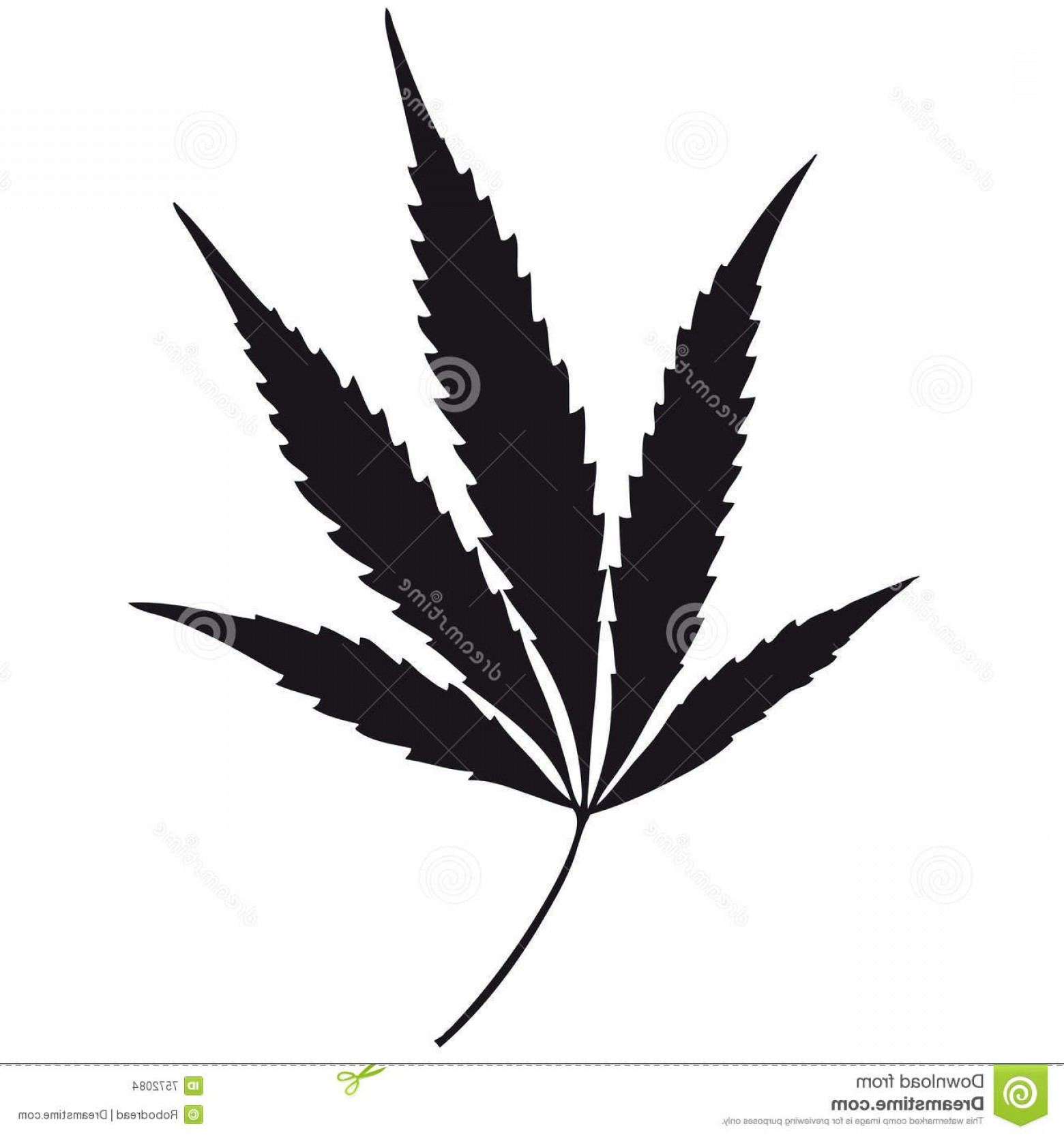 Black And White Vector Image Of Weed Plants: Stock Images Marijuana Leaf Vector Image