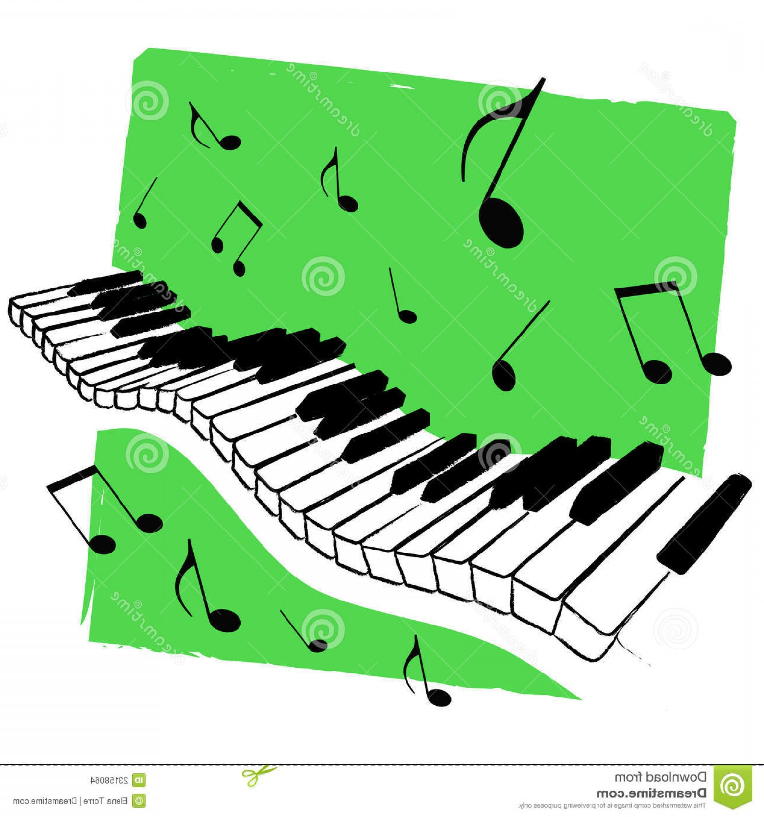 Musical Keyboard Vector: Stock Images Music Keyboard Vector Image
