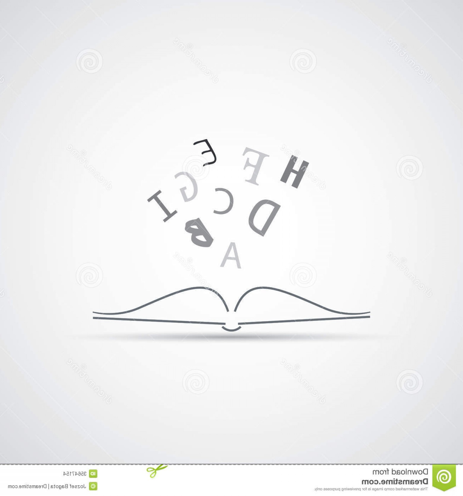 Stock Images Reading Book Icon Design Black White Open Letters