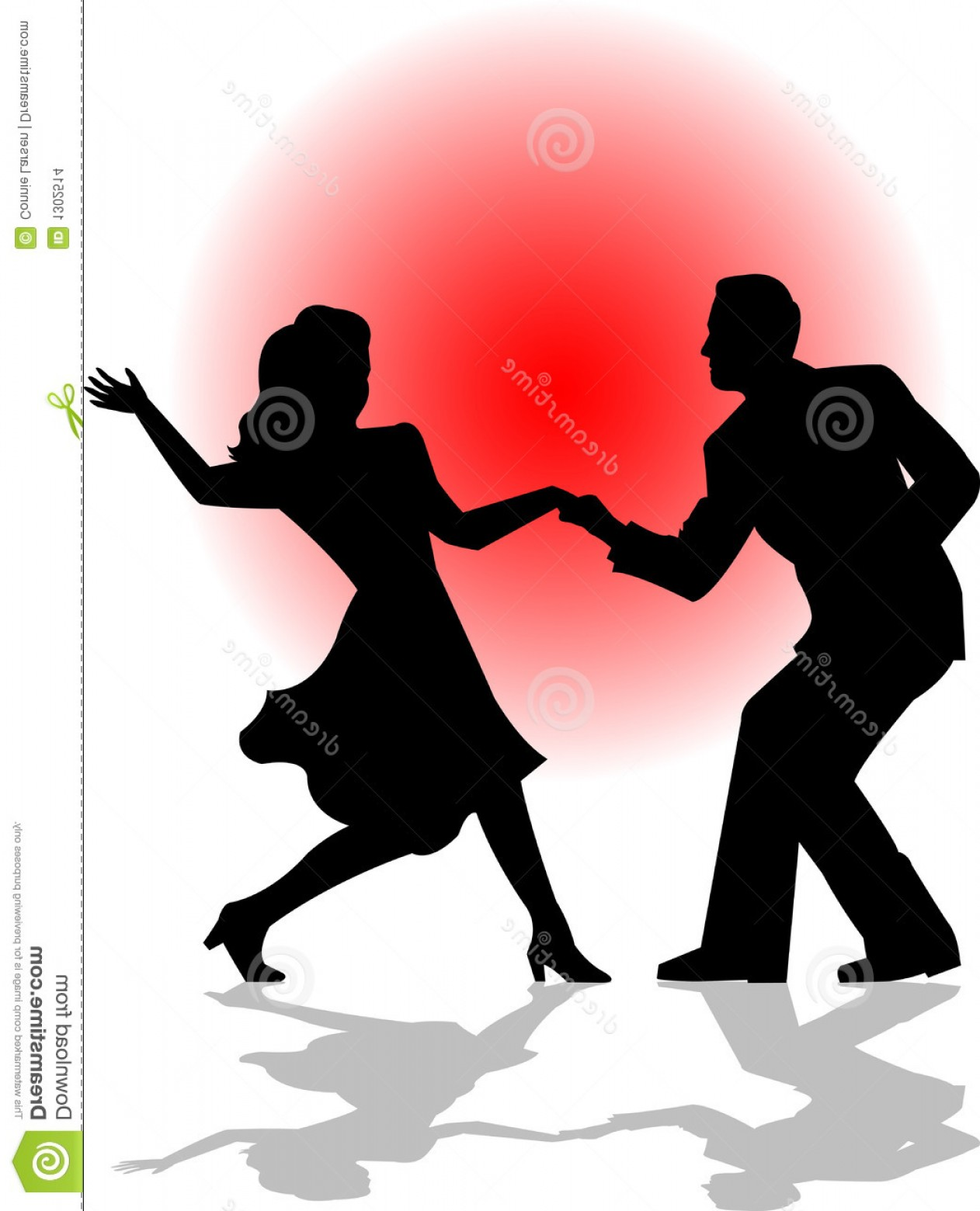 Vector Swing Dancers: Stock Images Swing Dance Couple Eps Image