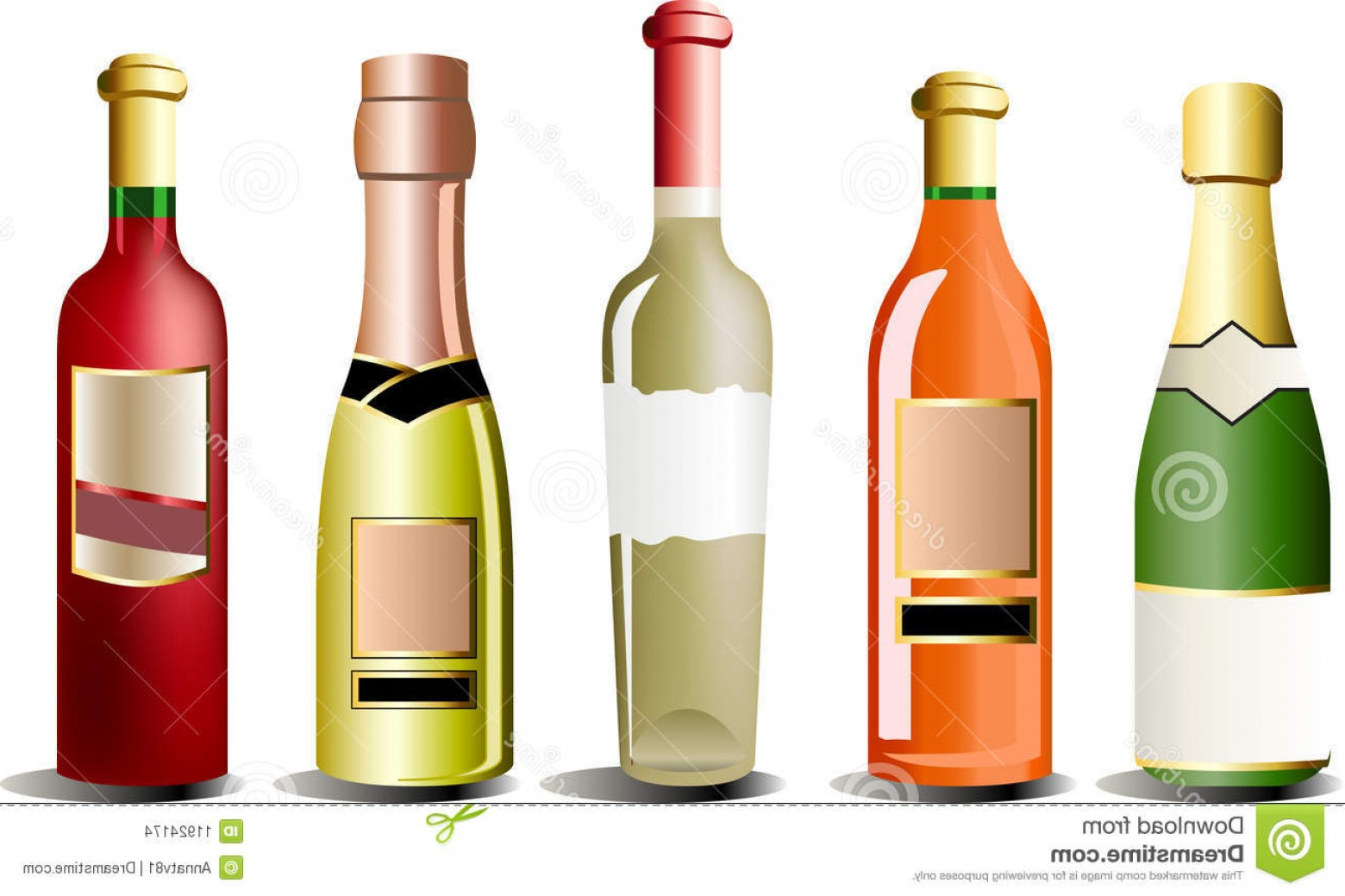 Alcohol Vector: Stock Images Vector Bottles Alcohol Image