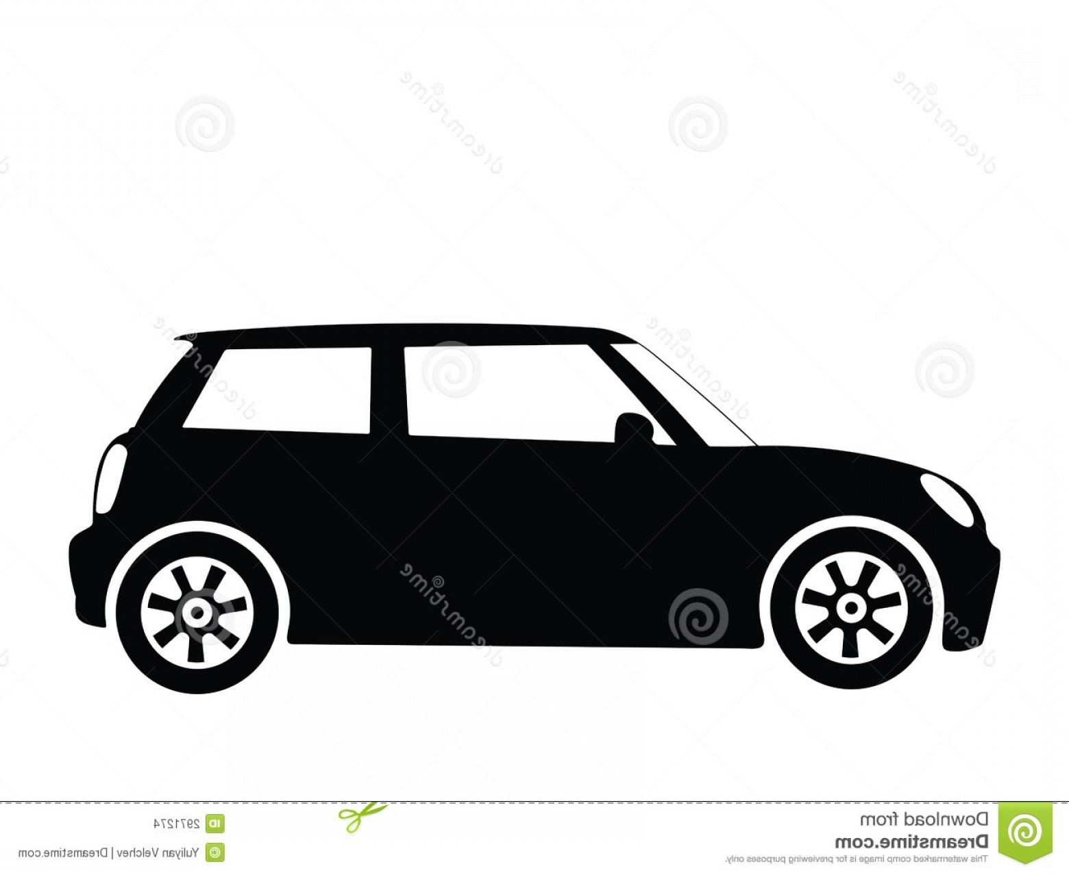 Car Vector Front Elevation: Stock Images Vector Small Car Image