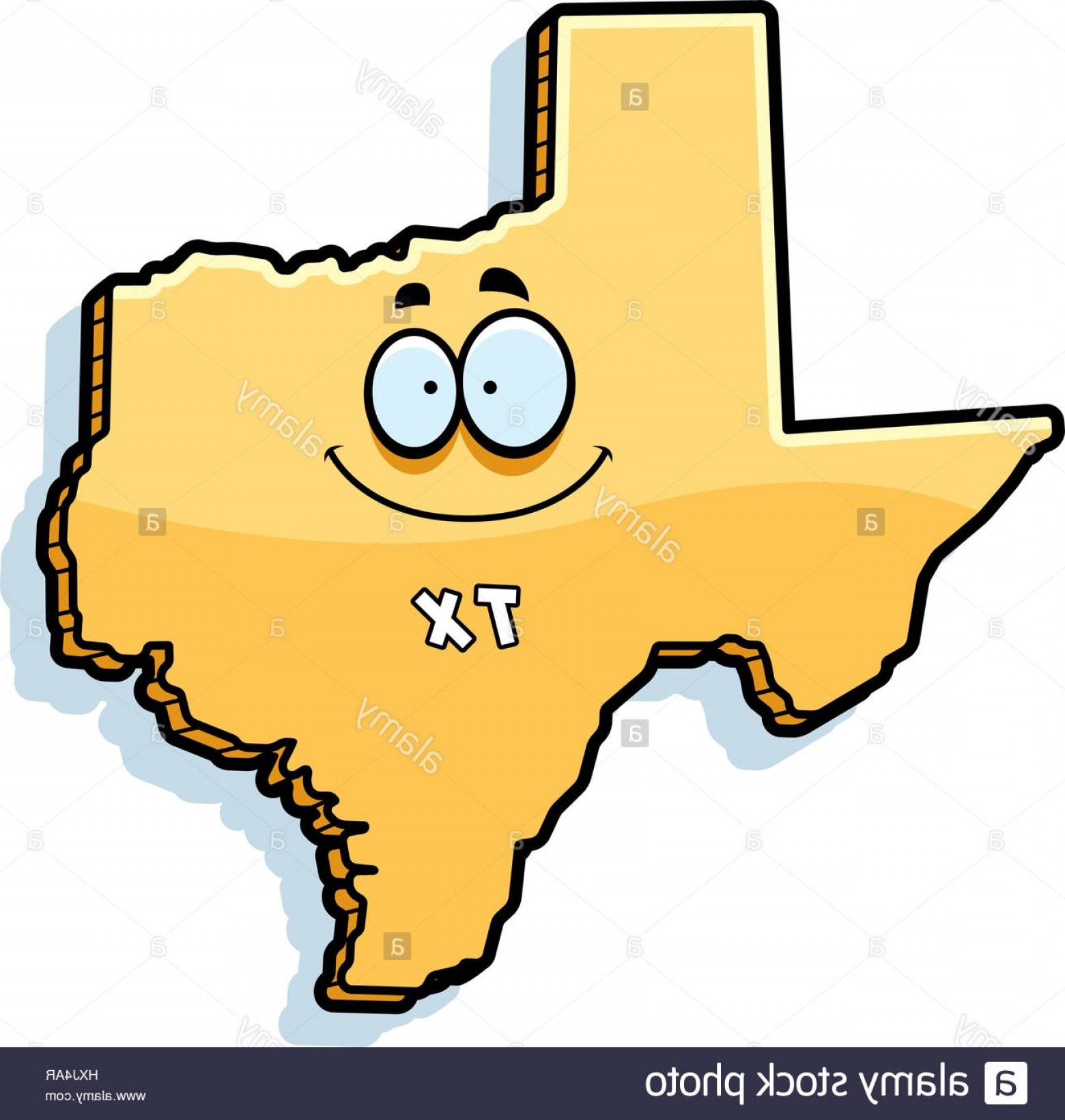Texas Clip Art Vector: Stock Photo A Cartoon Illustration Of The State Of Texas Smiling