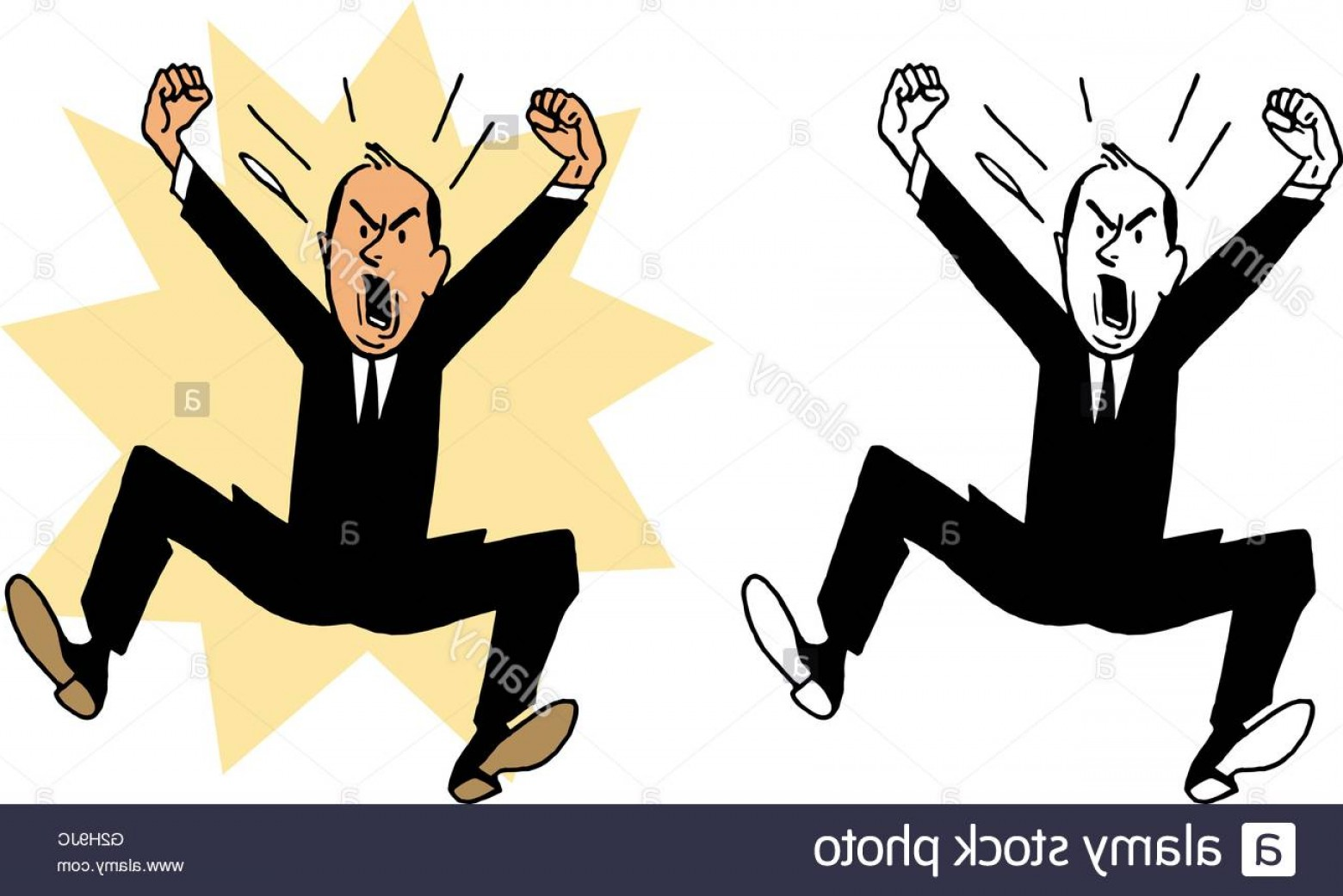 Mad Vector: Stock Photo A Hopping Mad Angry Man