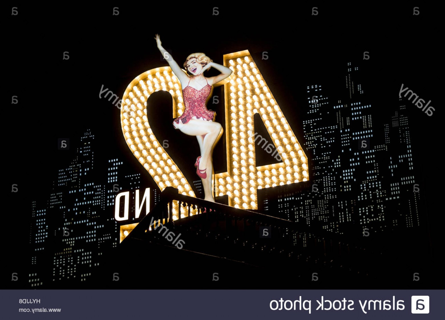 Wicked Musical Logo Vector: Stock Photo A Sign For The Musical Nd Street At The Theatre Royal Drury Lane