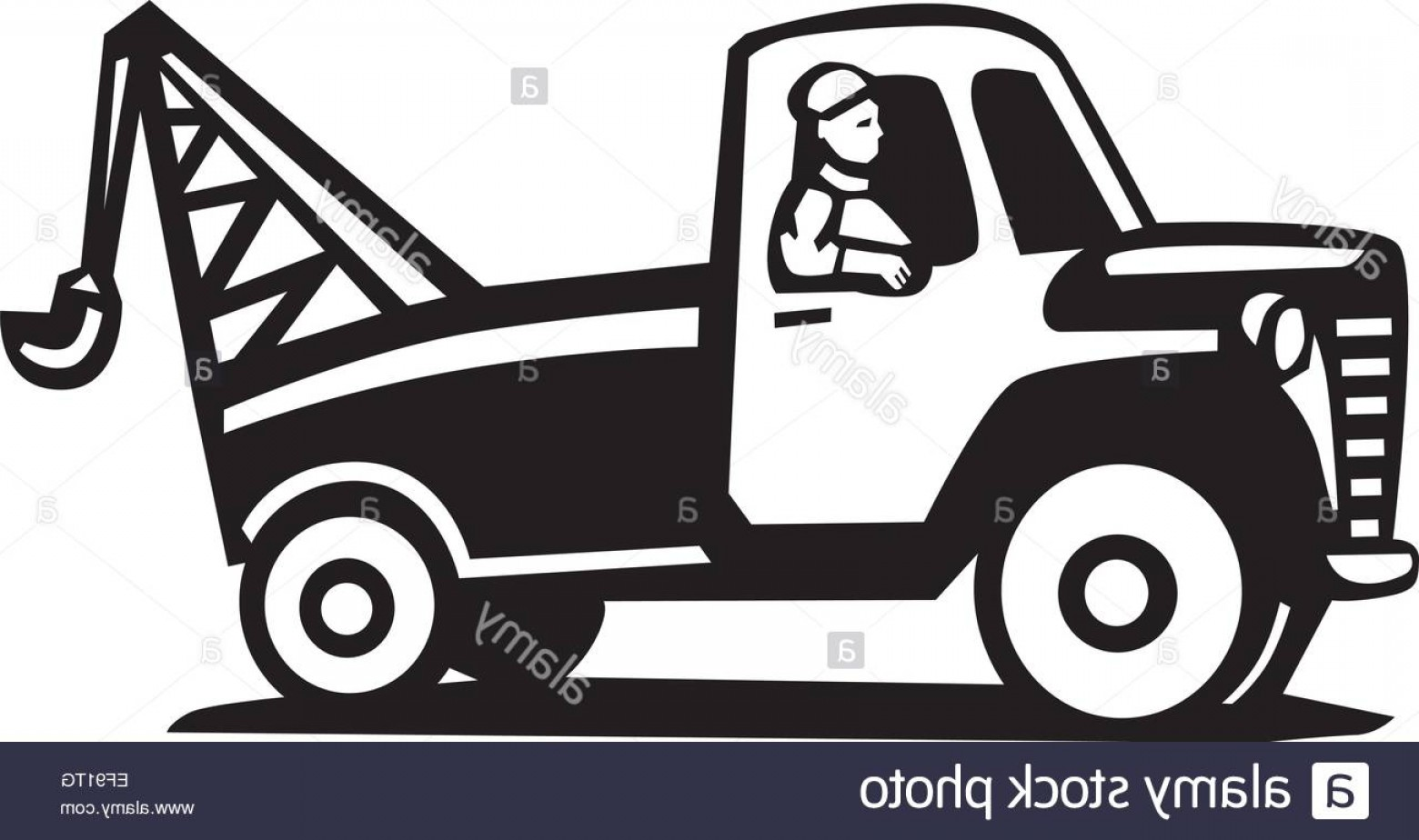 Towing Vector Clip Art: Stock Photo A Tow Truck