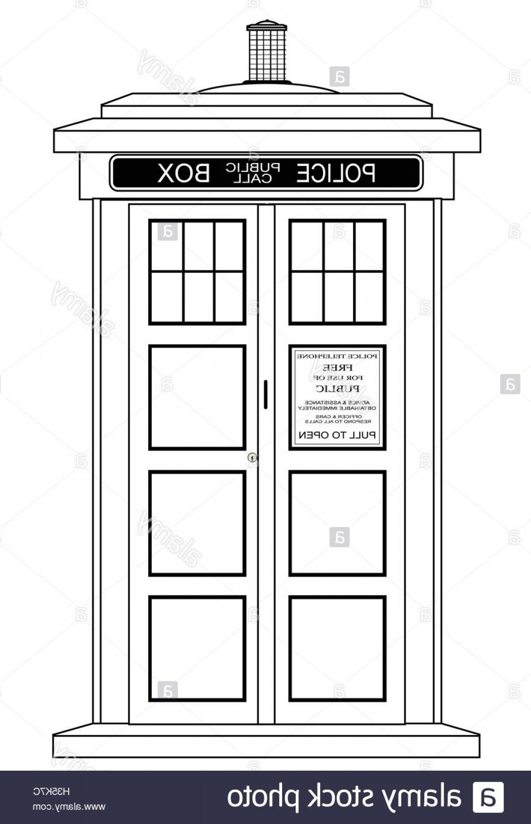 Vector Police Box: Stock Photo A Typical British Police Box Isolated Over A White Background