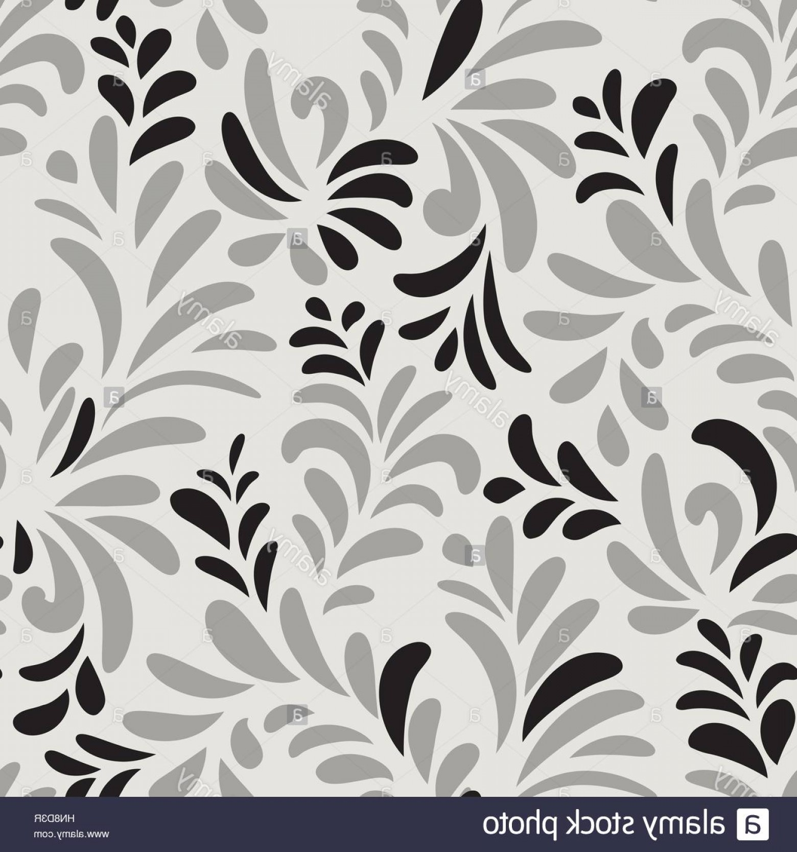 Vector Flourish Backgrounds: Stock Photo Abstact Vector Seamless Floral Geometric Pattern Floral Swirl Leaves
