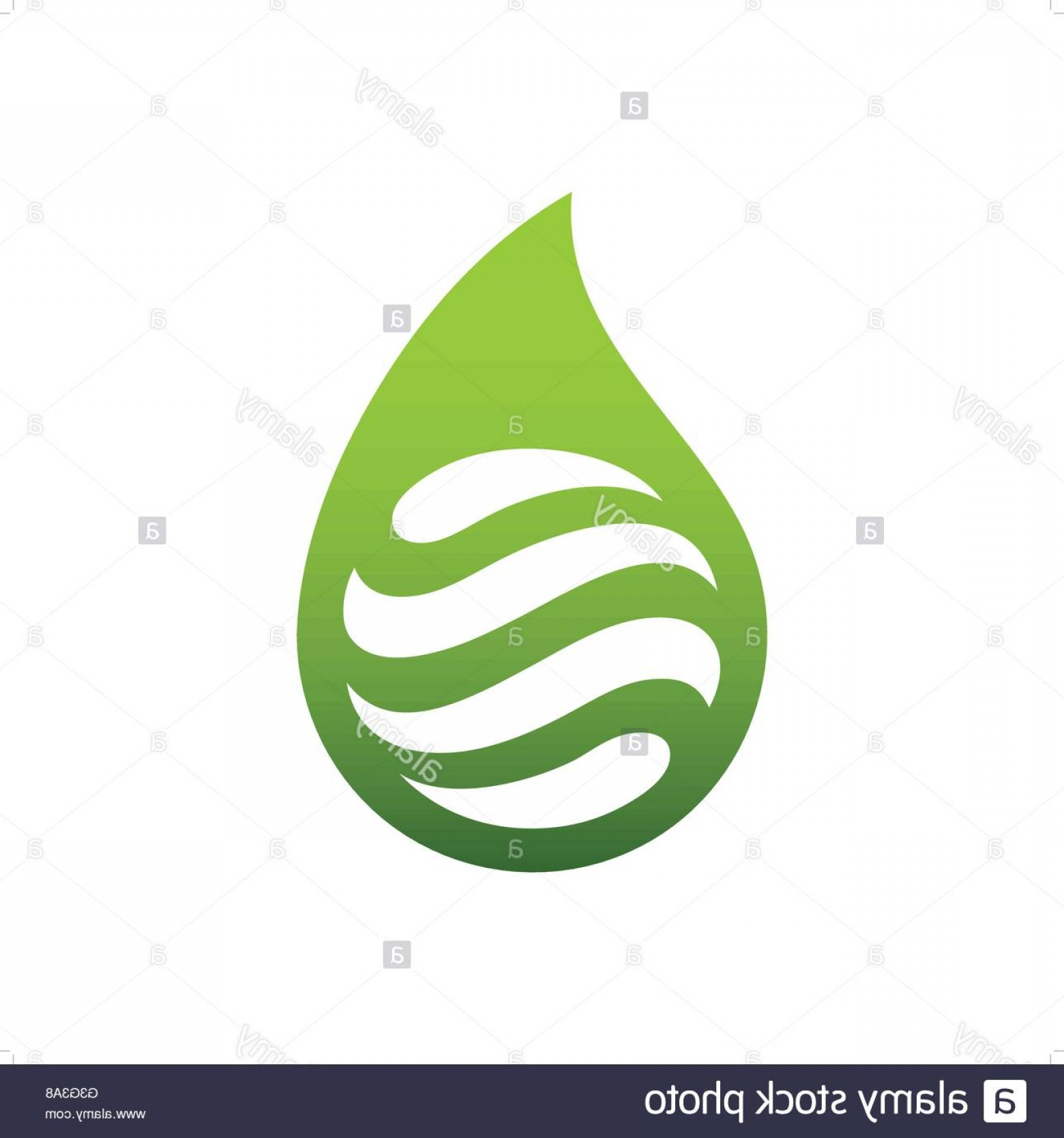 Cleaning Logo Vector Art: Stock Photo Abstract Green Water Drop Or Water Cleaning Logo Vector Illustration