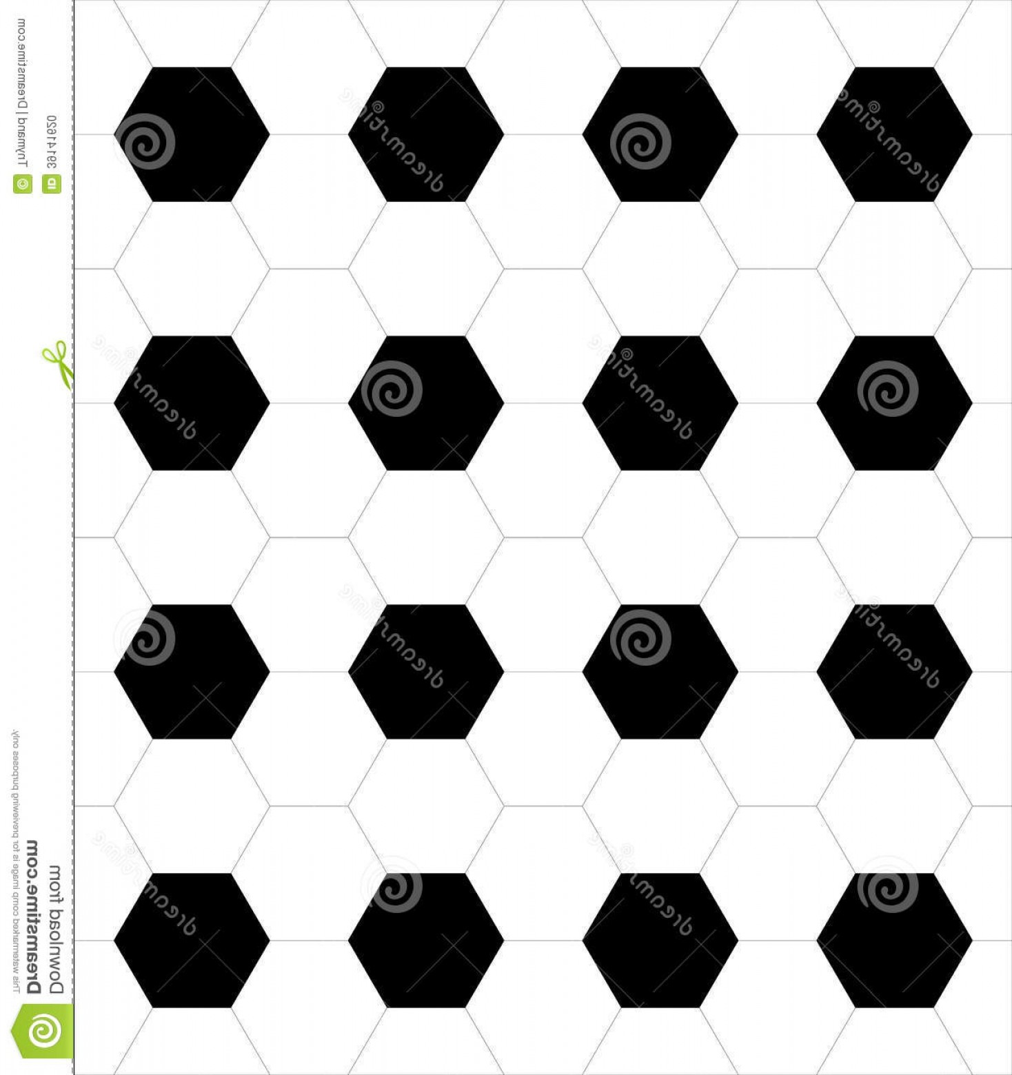 Vector Soccer Ball Pattern: Stock Photo Abstract Hexagons Soccer Ball Pattern Vector Background Illustration Eps Image