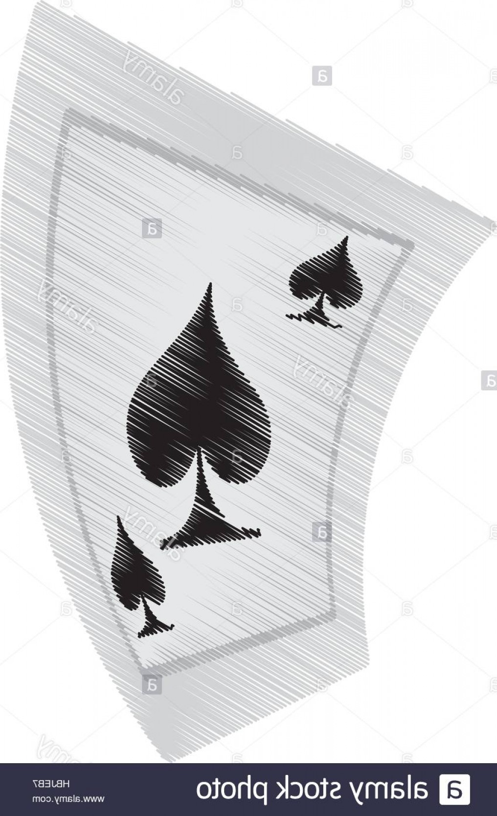 10 Playing Card Vector: Stock Photo Aces Spades Poker Playing Card Drawing Vector Illustration Eps