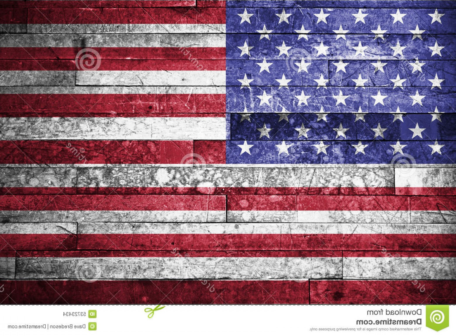 Rustic American Flag Vector: Stock Photo American Flag Background Painted Rustic Image