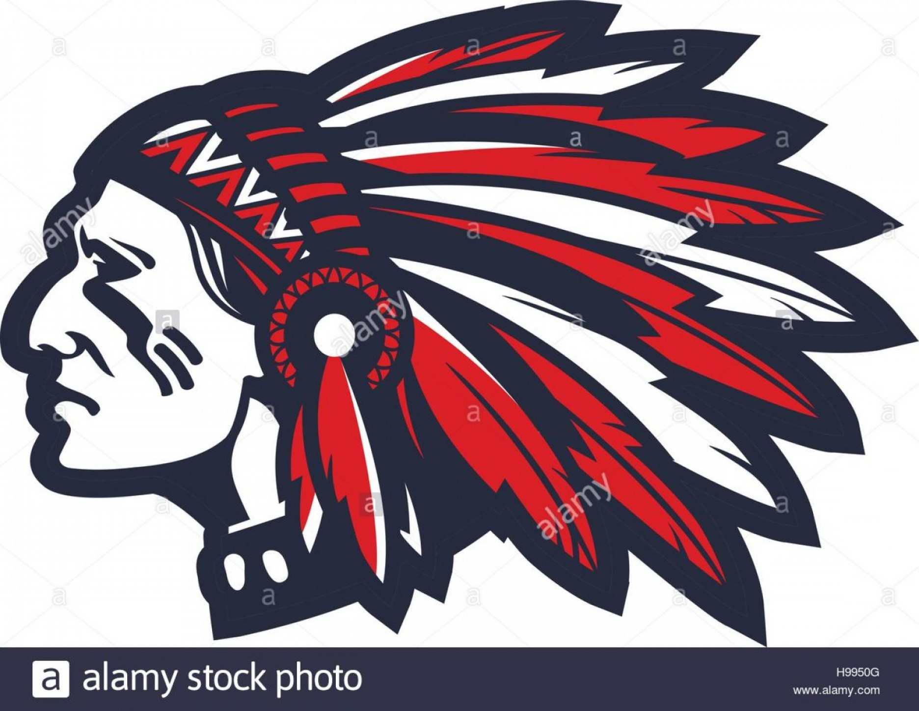 American Indian Chief Vector: Stock Photo American Indian Chief Vector Logo Or Icon