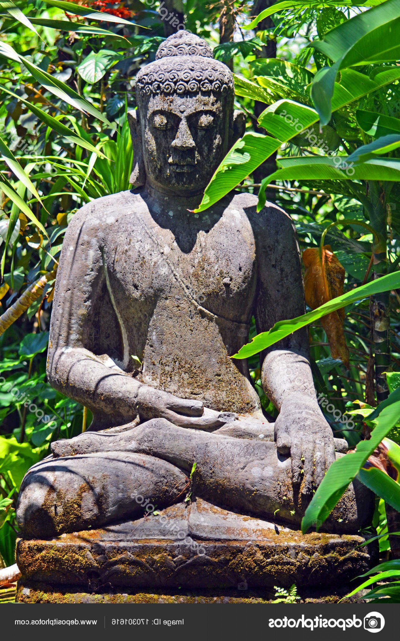 Ancient Jungle Statue Vector Images: Stock Photo An Ancient Statue Of An