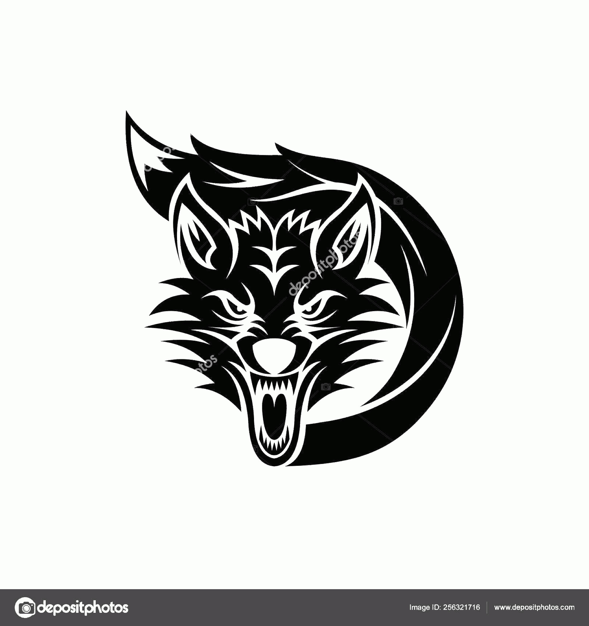 Wolf Vector Logo: Stock Photo Angry Wolf Vector Logo