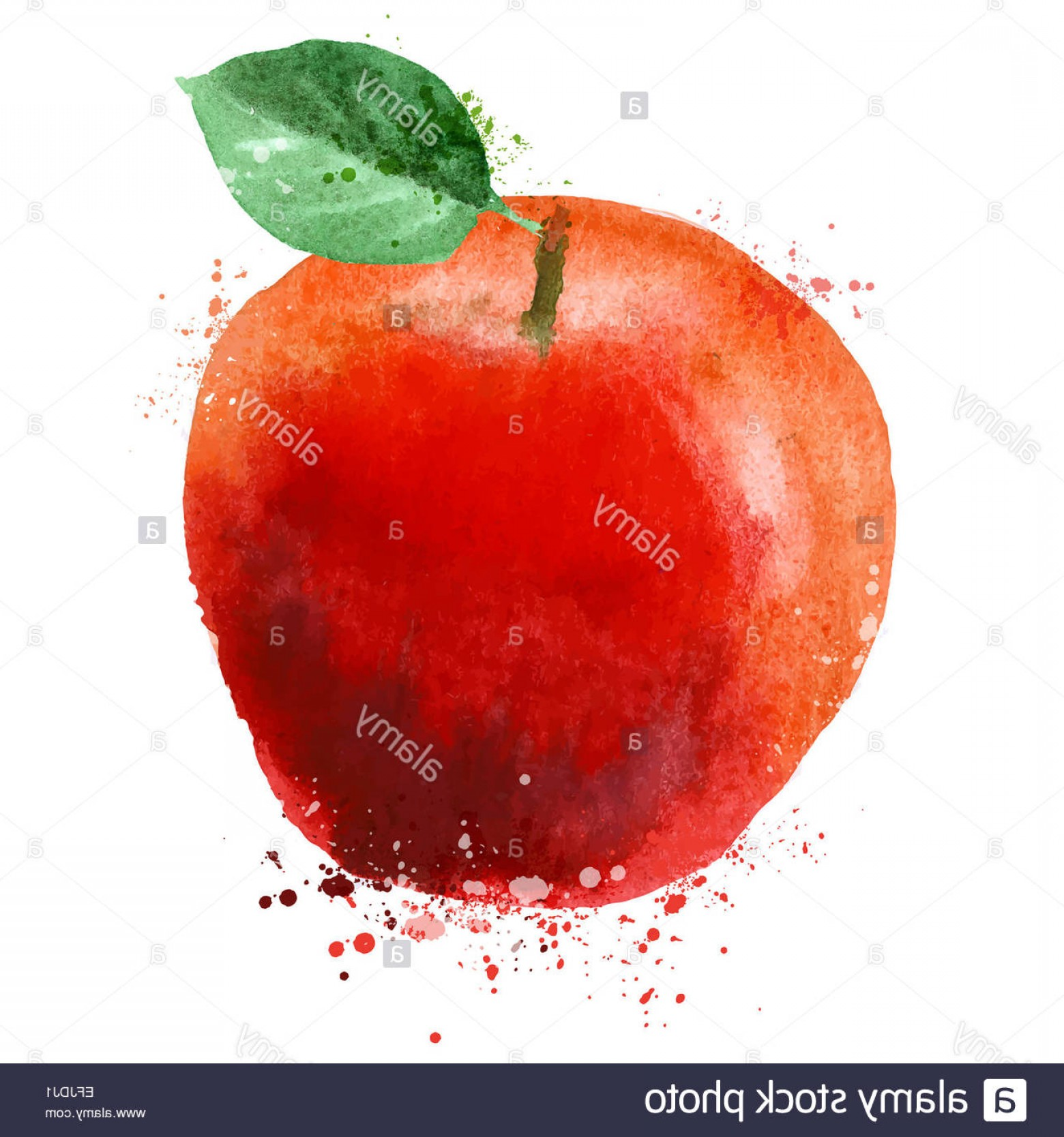 Red Apple Vector Logo: Stock Photo Apple Vector Logo Design Template Fruit Or Food Icon