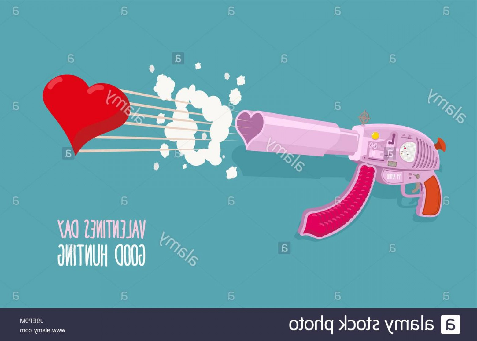 Hunting Heart Vector: Stock Photo Arms Of Love Gun Shoots Hearts Valentines Day Good Hunting Vector