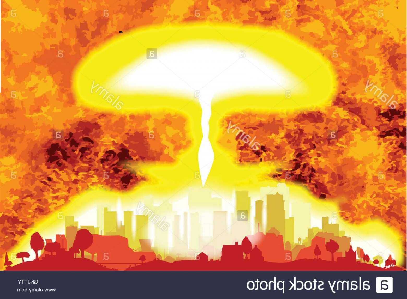Atomic Bomb Explosion Vector: Stock Photo Atomic Bomb Heat Background