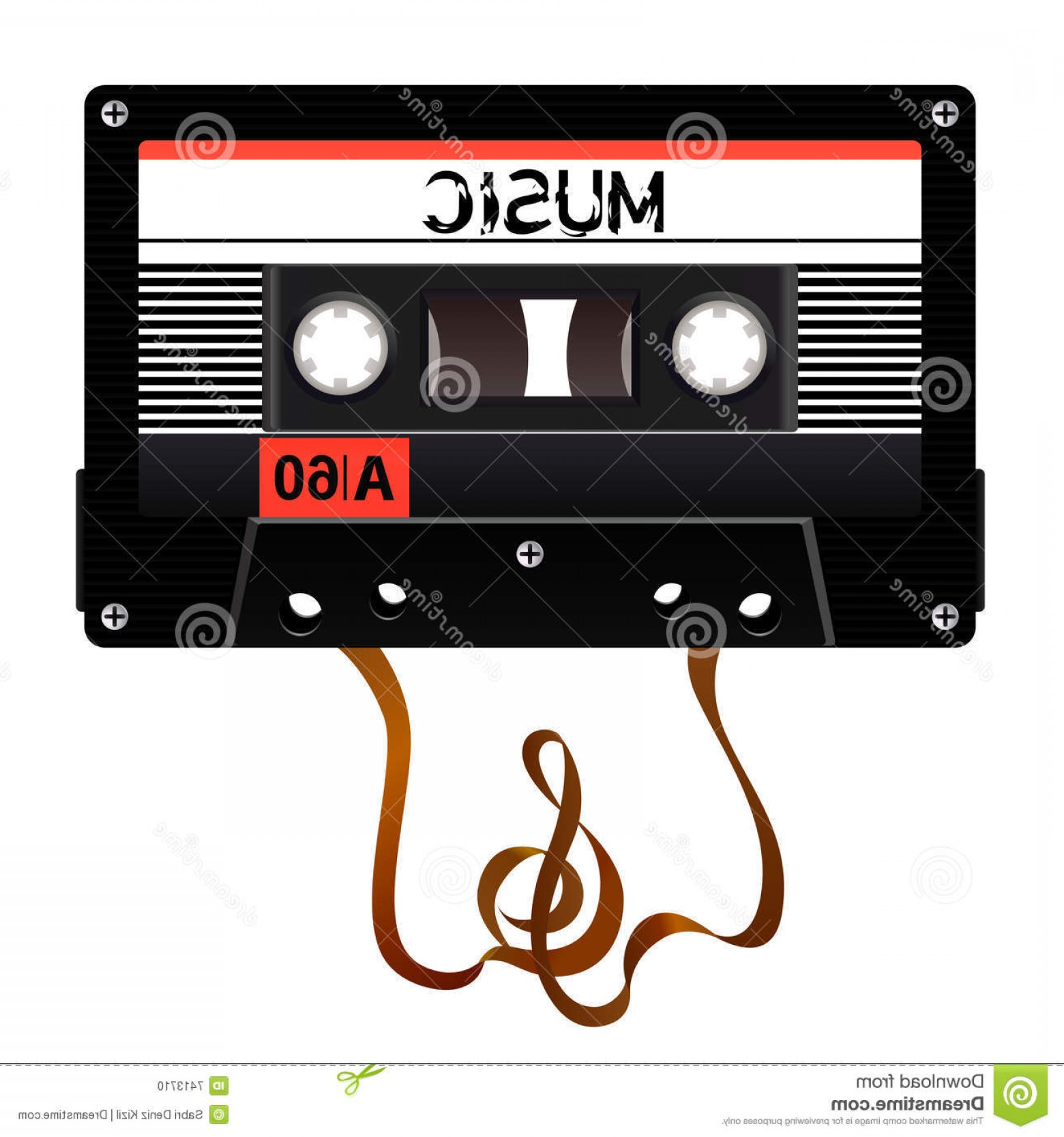 Audio Cassette Vector: Stock Photo Audio Cassette Vector Image