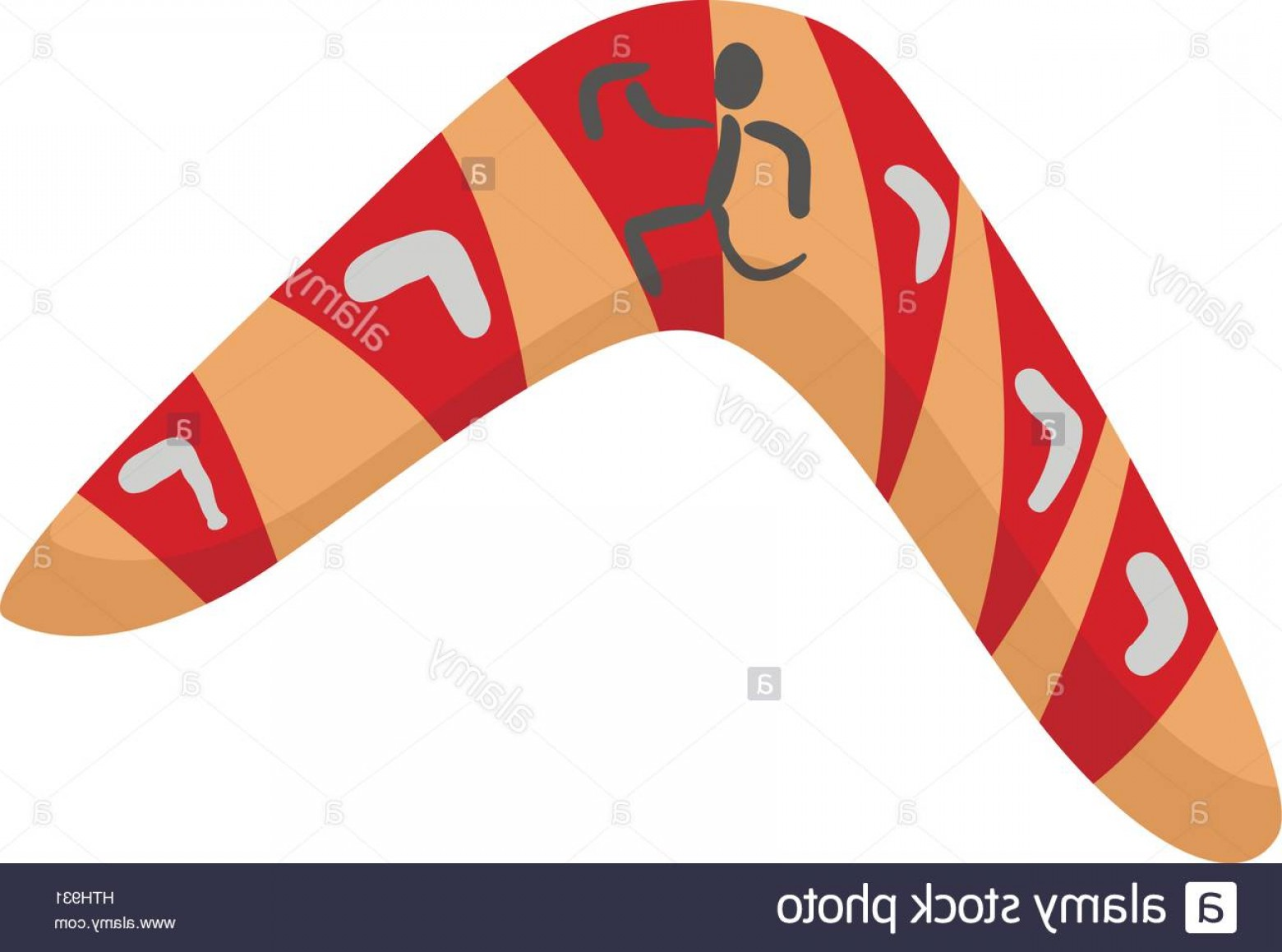Boomerang Vector Curve: Stock Photo Australian Boomerang Icon Cartoon Style