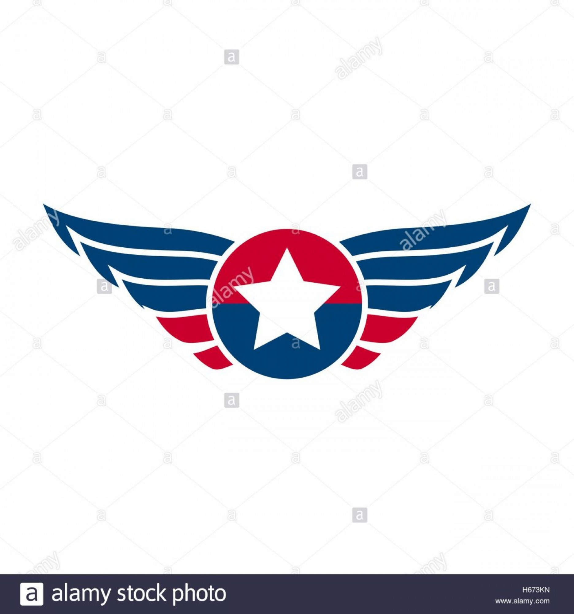 Army Aviator Wings Vector: Stock Photo Aviation Emblem Badge Or Logo