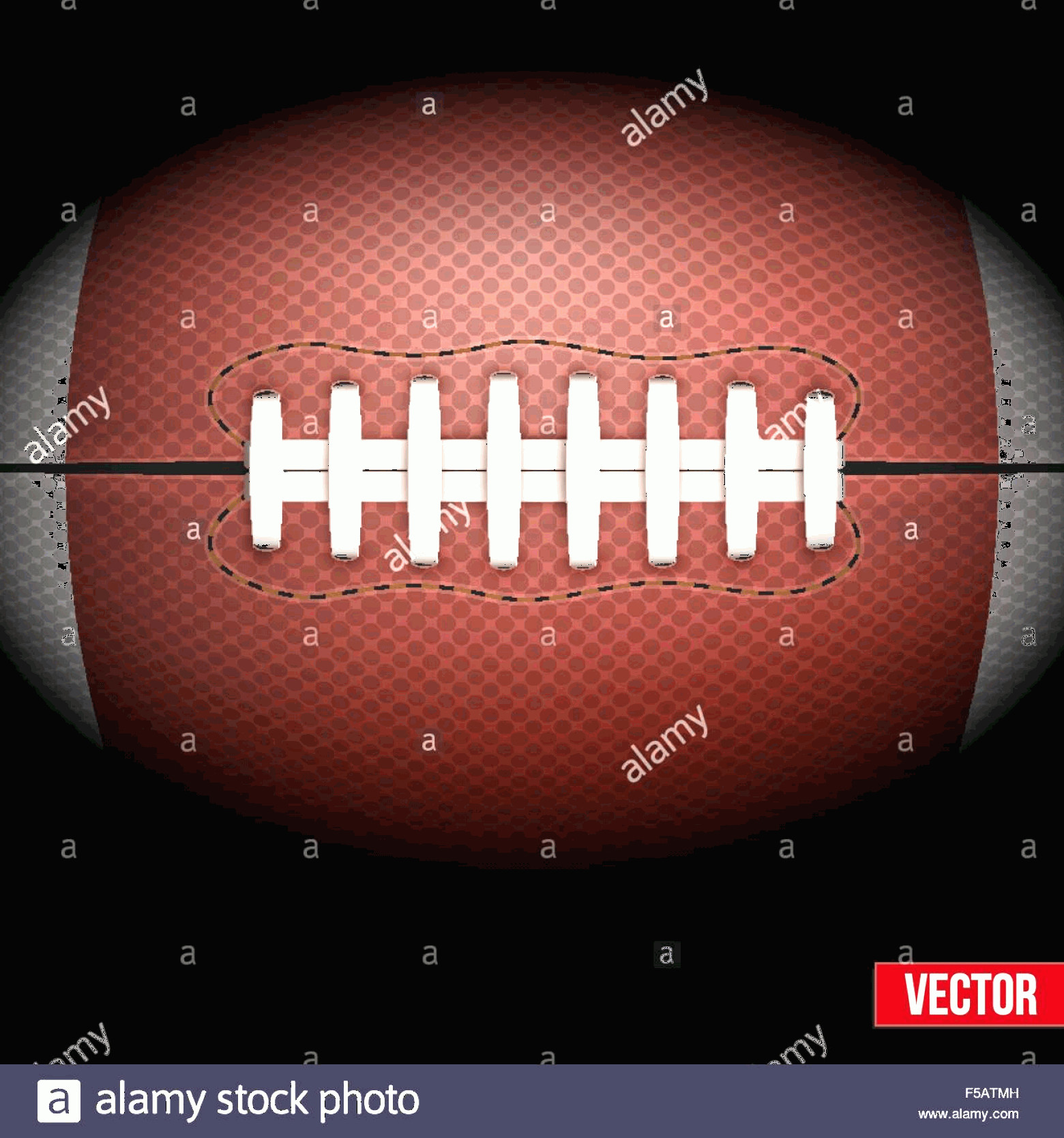 Football Laces Vector Silhouette: Stock Photo Background Of American Football Ball Vector