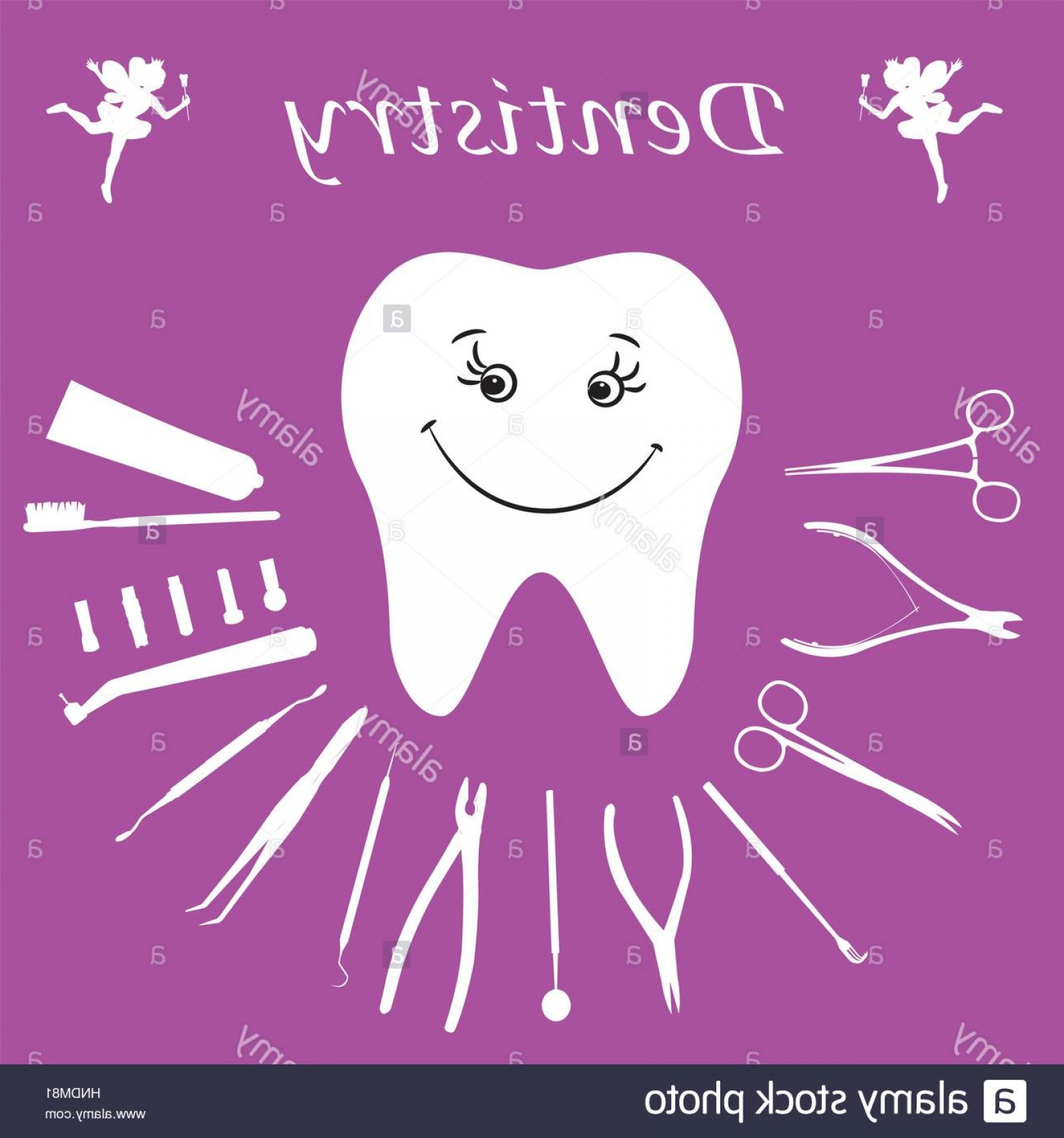 Vector Dental Equipment: Stock Photo Background Teeth Dental Instruments Dental Care