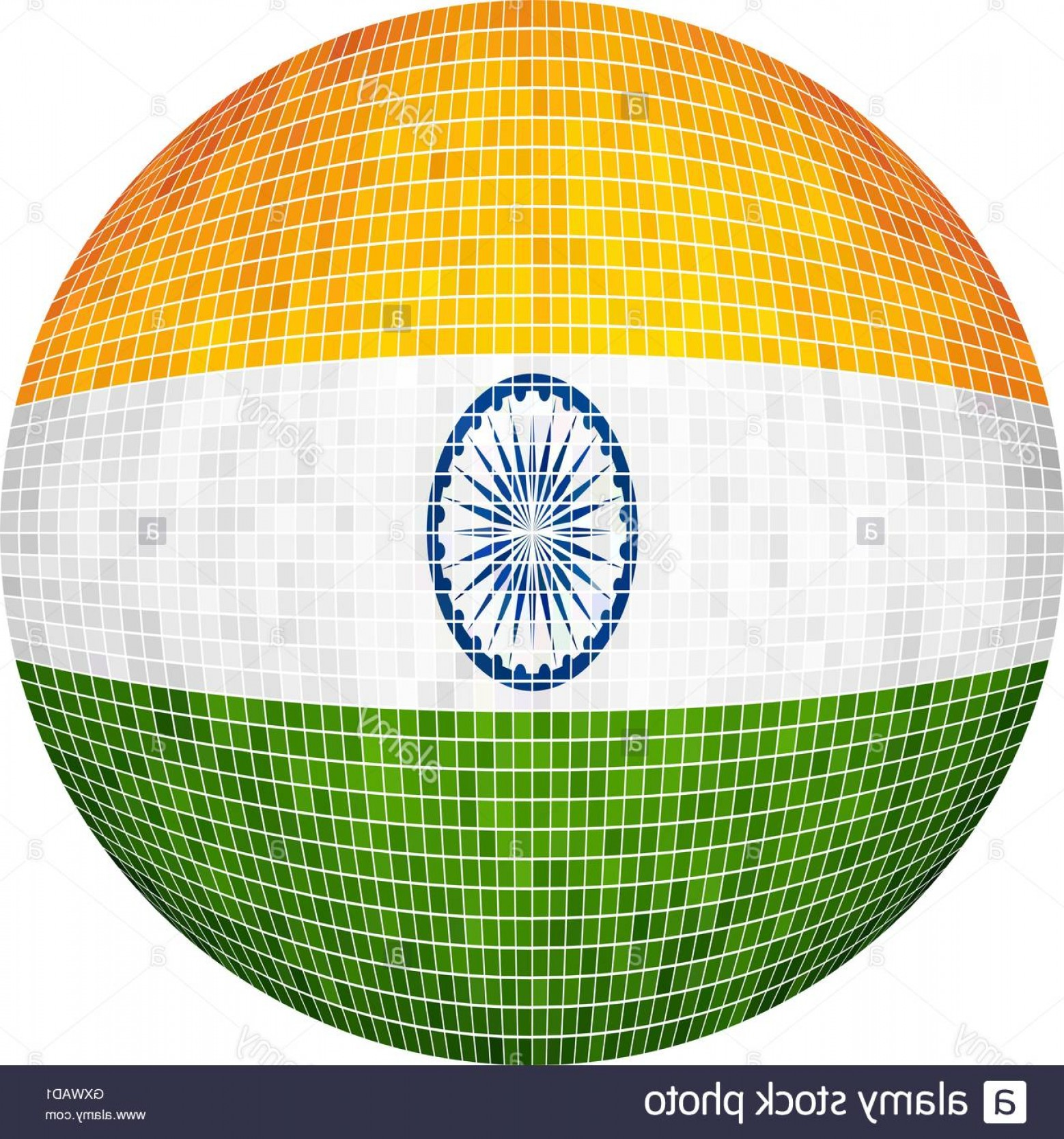 India Flag Vector: Stock Photo Ball With India Flag Illustration Sphere Indian Flag Vector Abstract