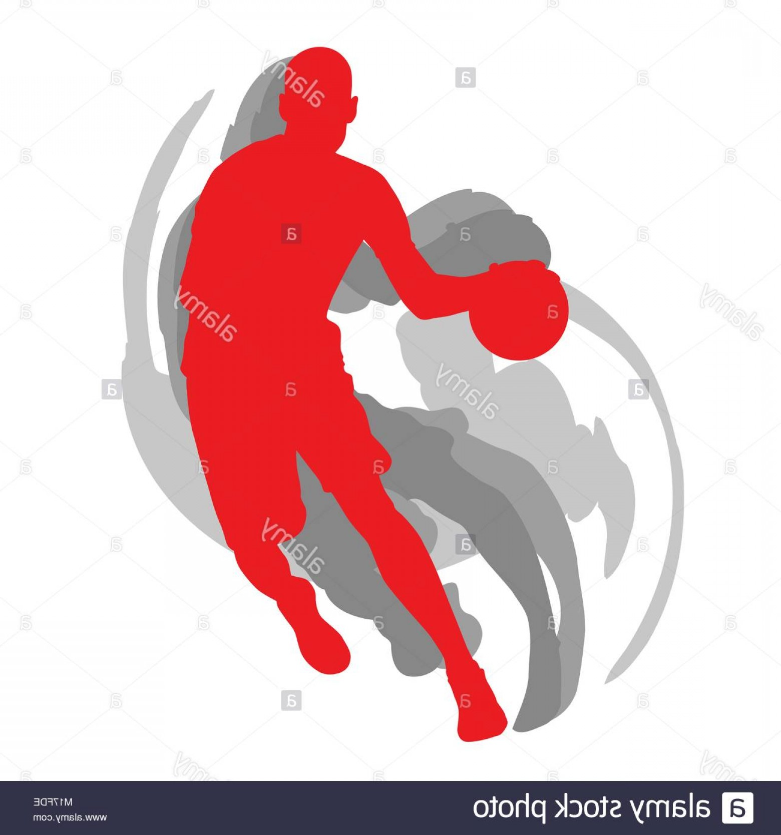 Motion Basketball Vector: Stock Photo Basketball Player In Action Vector Background Concept Motion