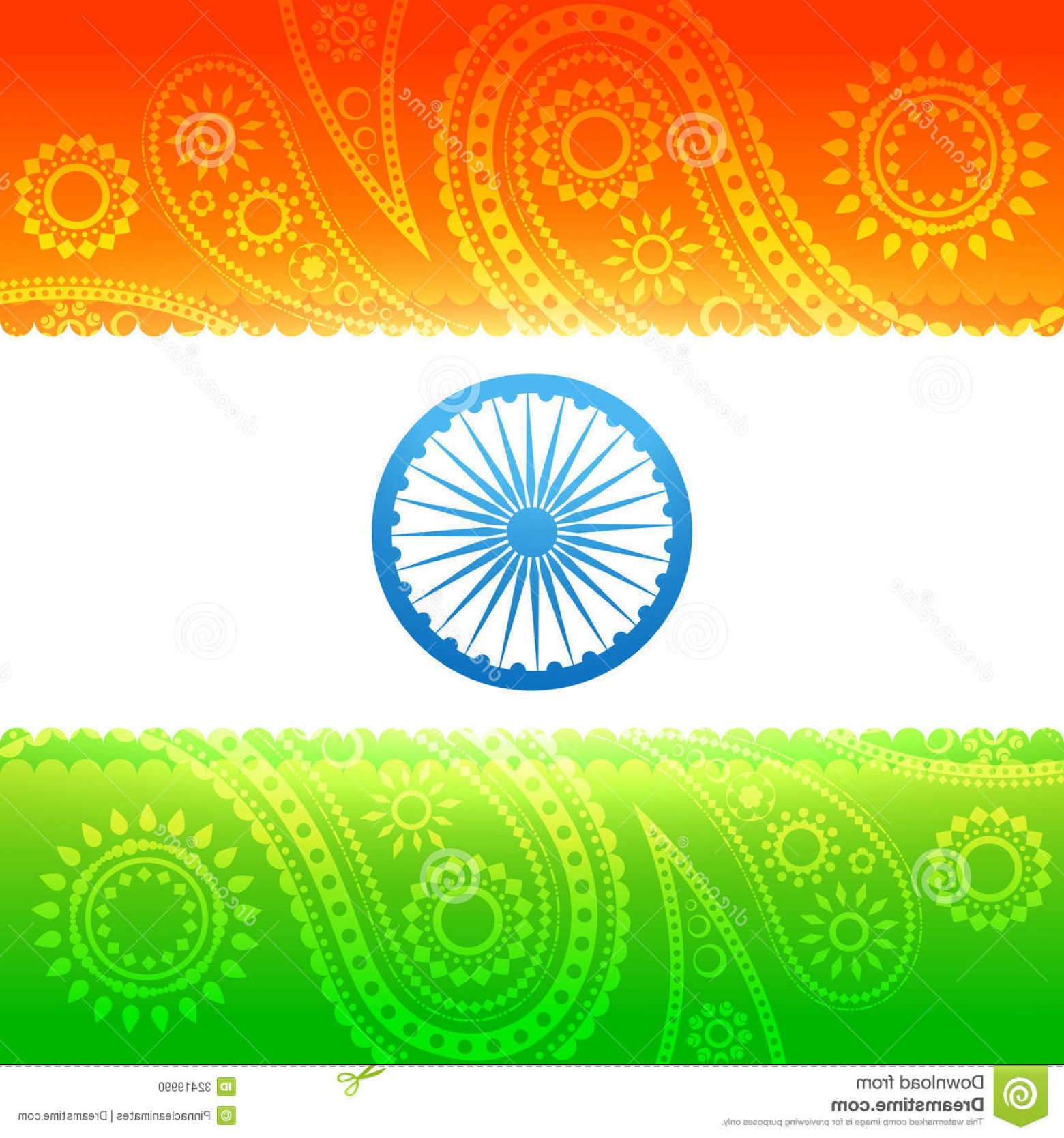India Flag Vector: Stock Photo Beautiful Indian Flag Vector Background Image