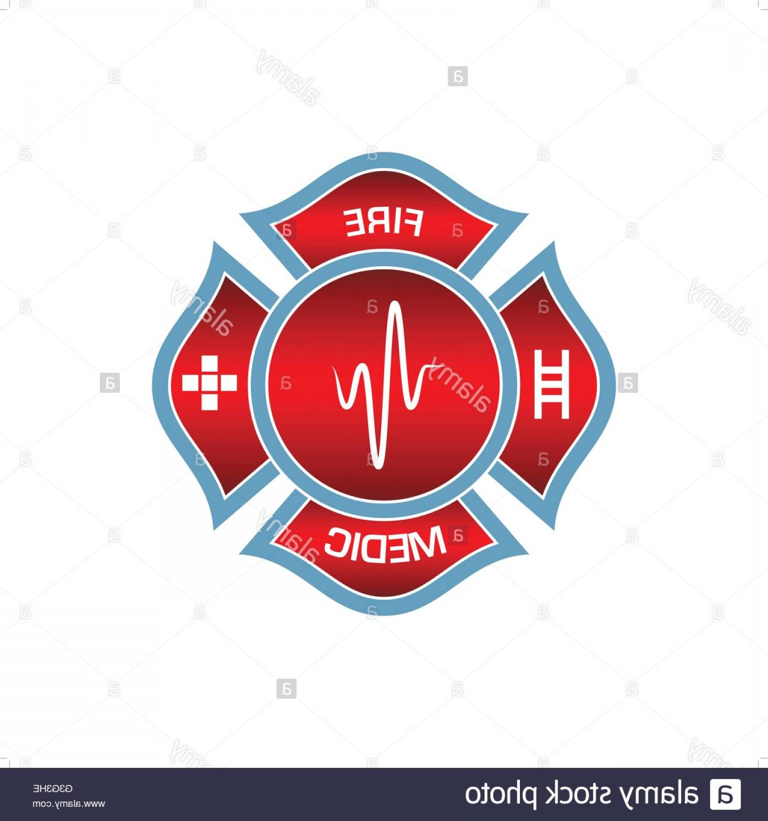 Fire Fighter Logo Vector: Stock Photo Beautiful Red Firefighters Logo Vector Illustration Isolated On White