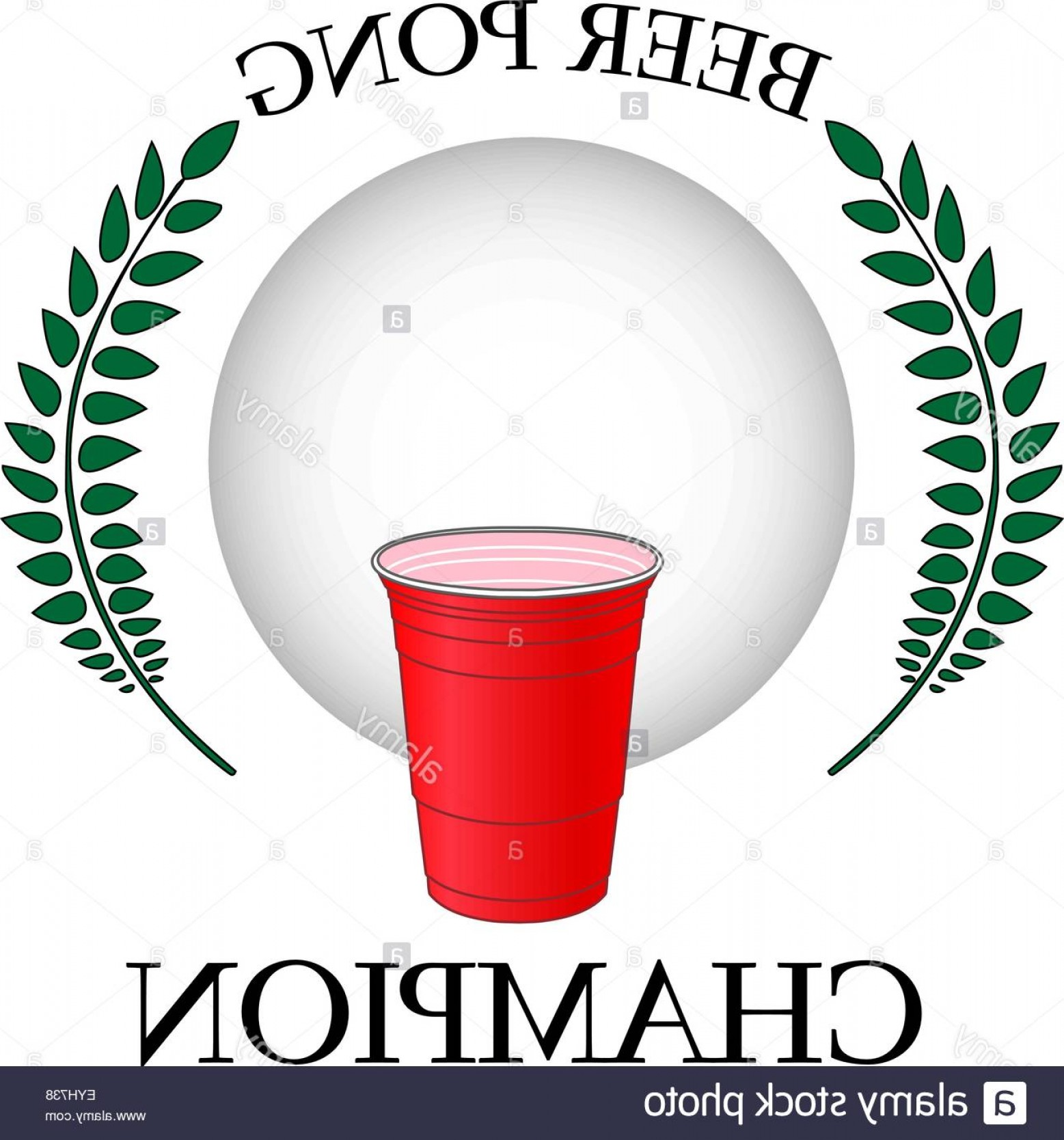 Champion Vector Art: Stock Photo Beer Pong Champion