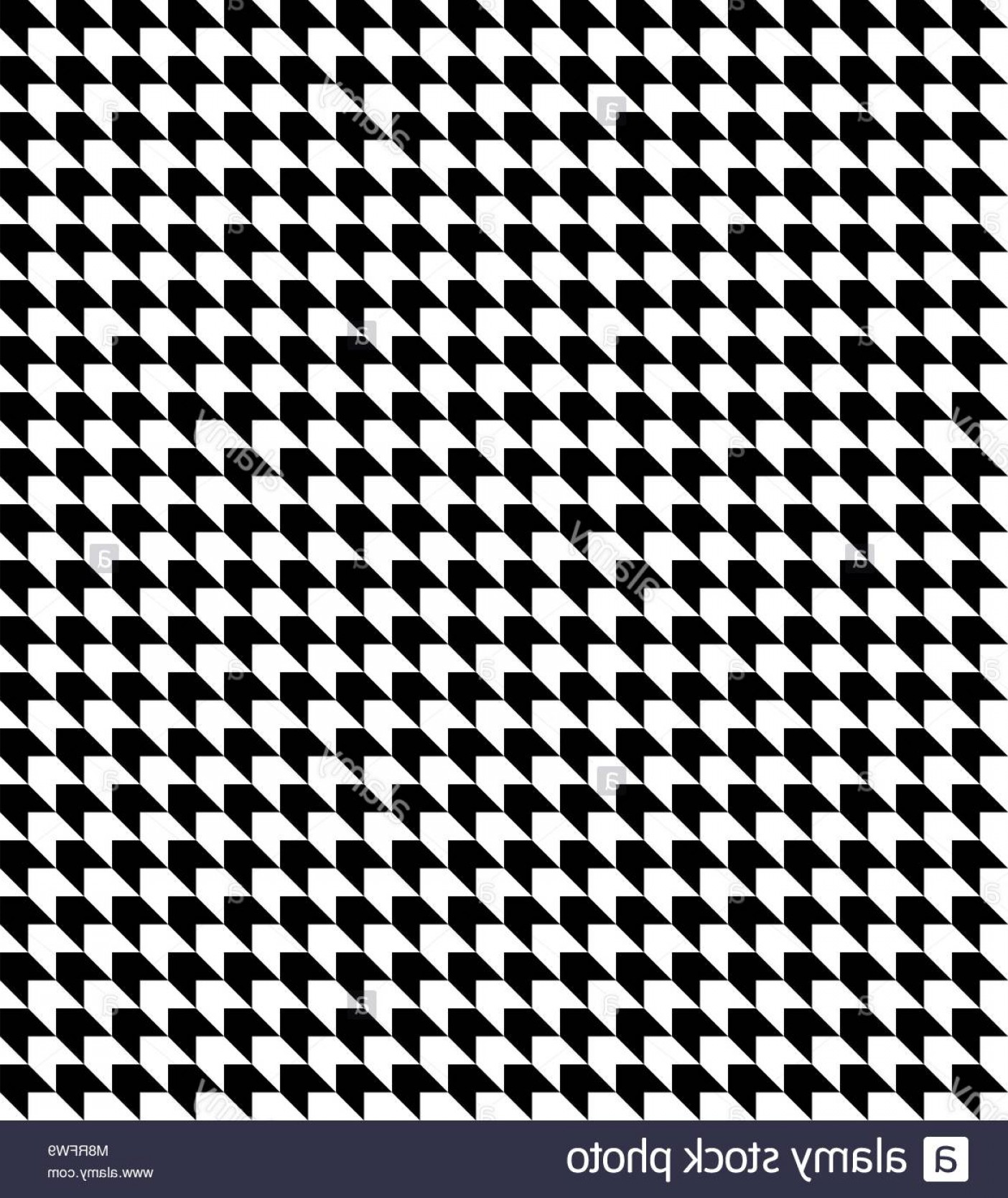 Houndstooth Vector: Stock Photo Black And White Houndstooth Pattern Vector