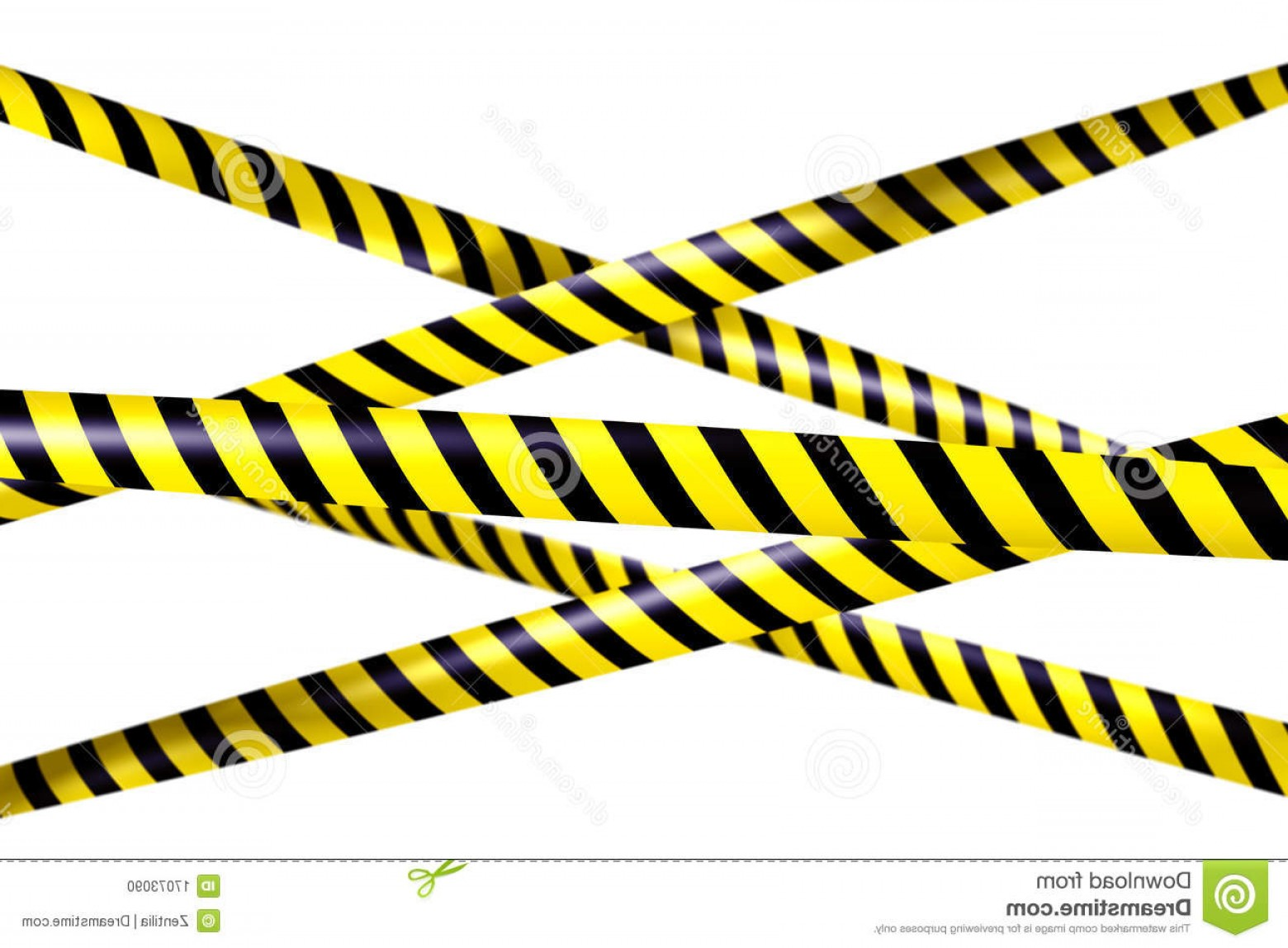 Caution Stripes Vector: Stock Photo Blank Caution Tape Image