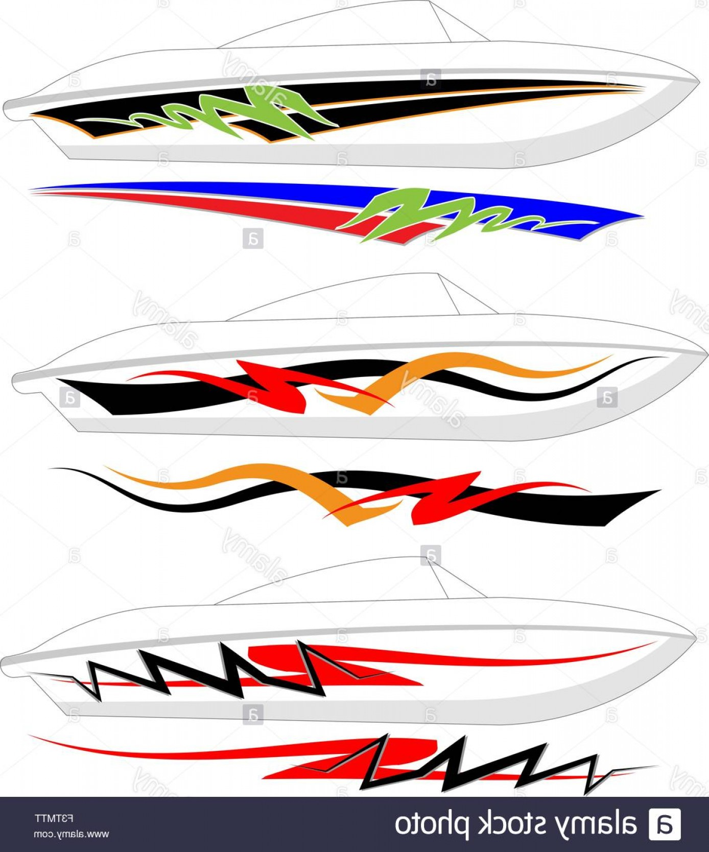 Boat Vector Art Graphics: Stock Photo Boat Graphics Stripe Vinyl Ready Vector Art