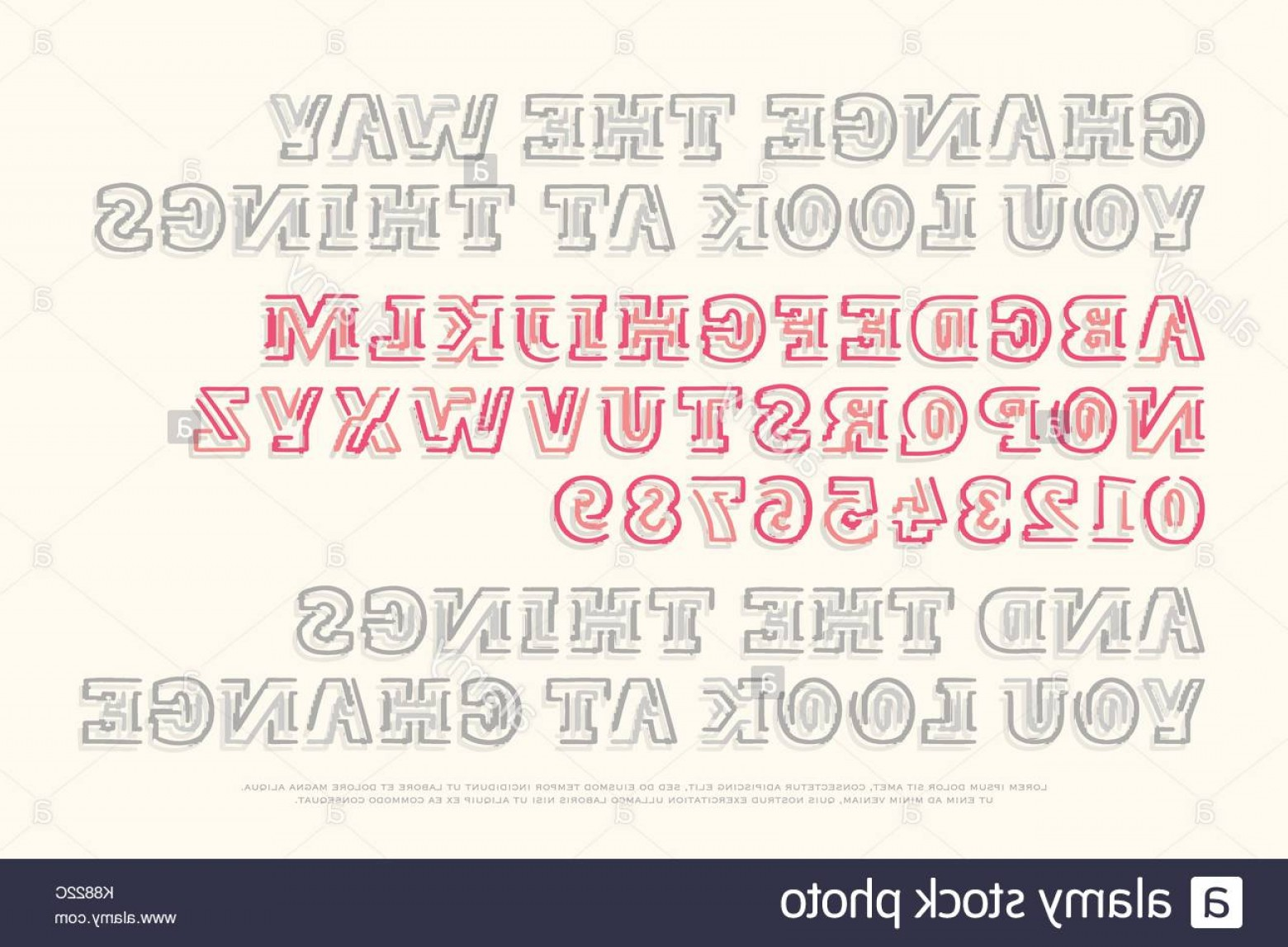 Decorative Font Vector Illustration: Stock Photo Bold Style Alphabet Letters And Numbers Vector Font Type Design Ornamental