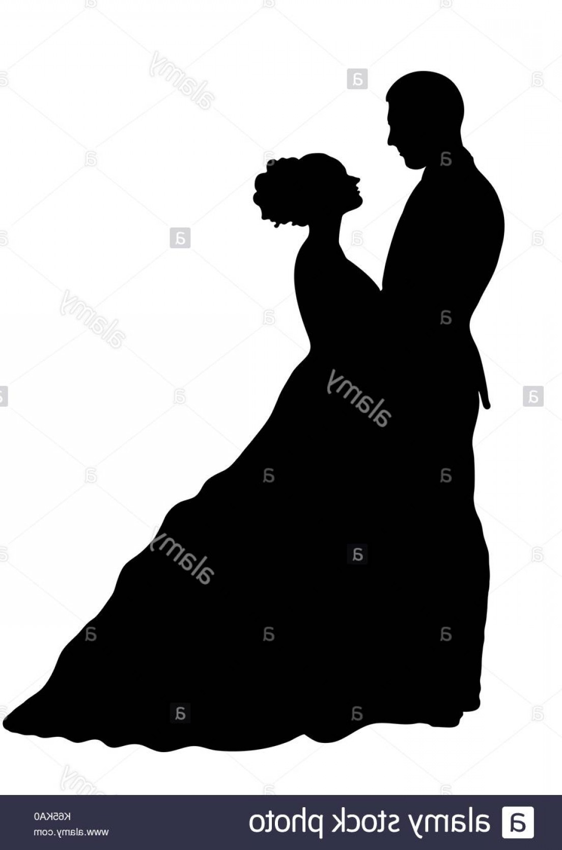 Vector Silhouette Love: Stock Photo Bride And Groom Silhouette Vector Icon Contour Drawing Black And White