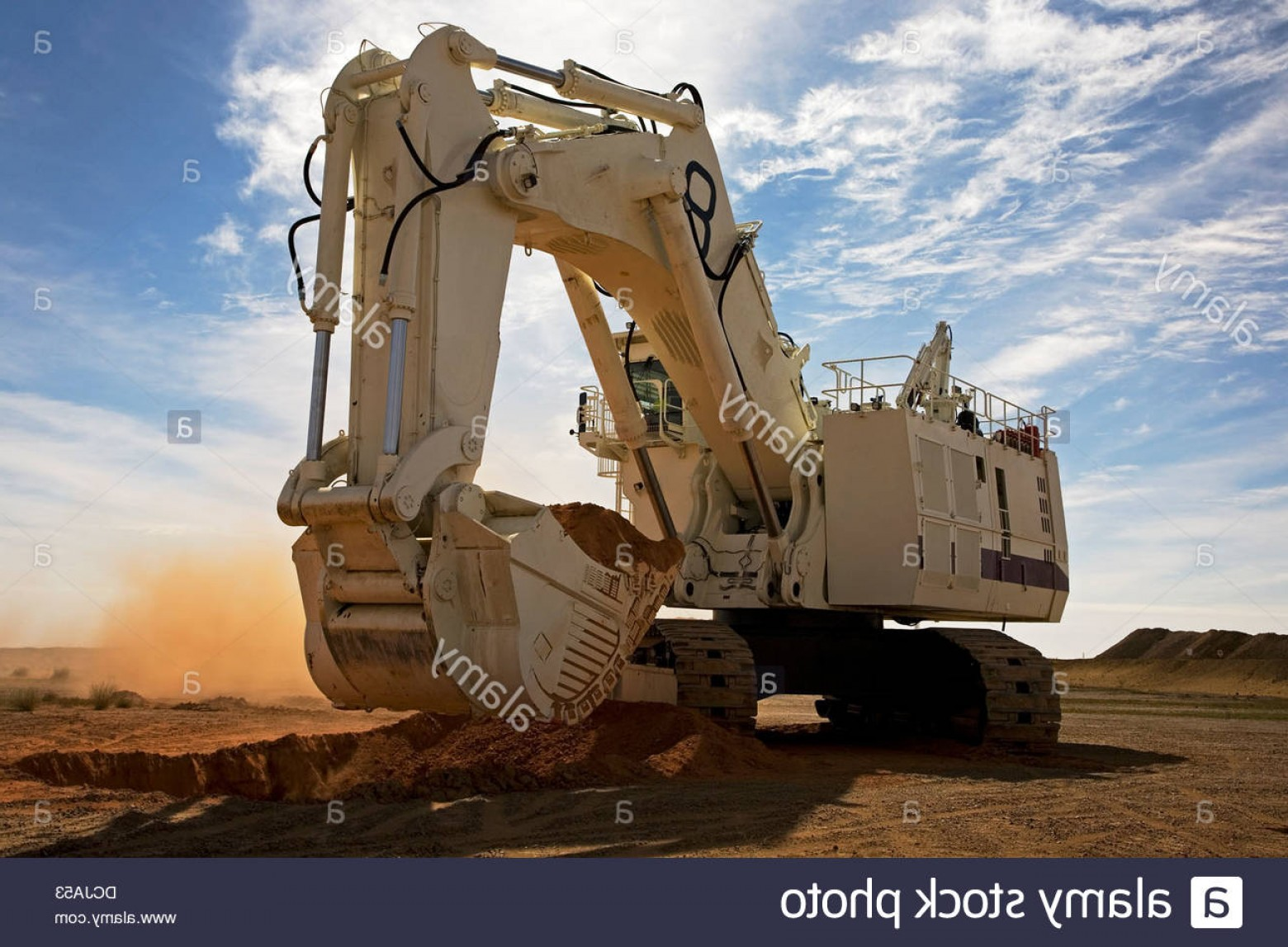 Caterpillar Trackhoe Vector: Stock Photo Bucyrus Caterpillar Hydraulic Excavator Digger Breaking New Ground
