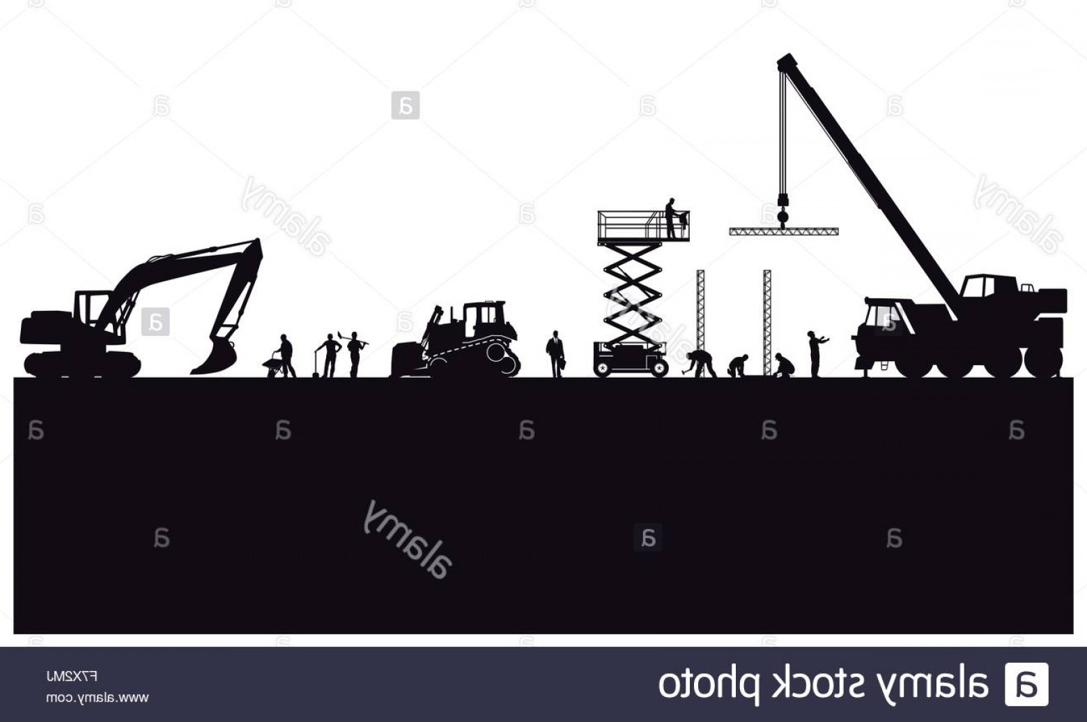 Vector Graphic Of Civil Engineering: Stock Photo Building Construction And Civil Engineering