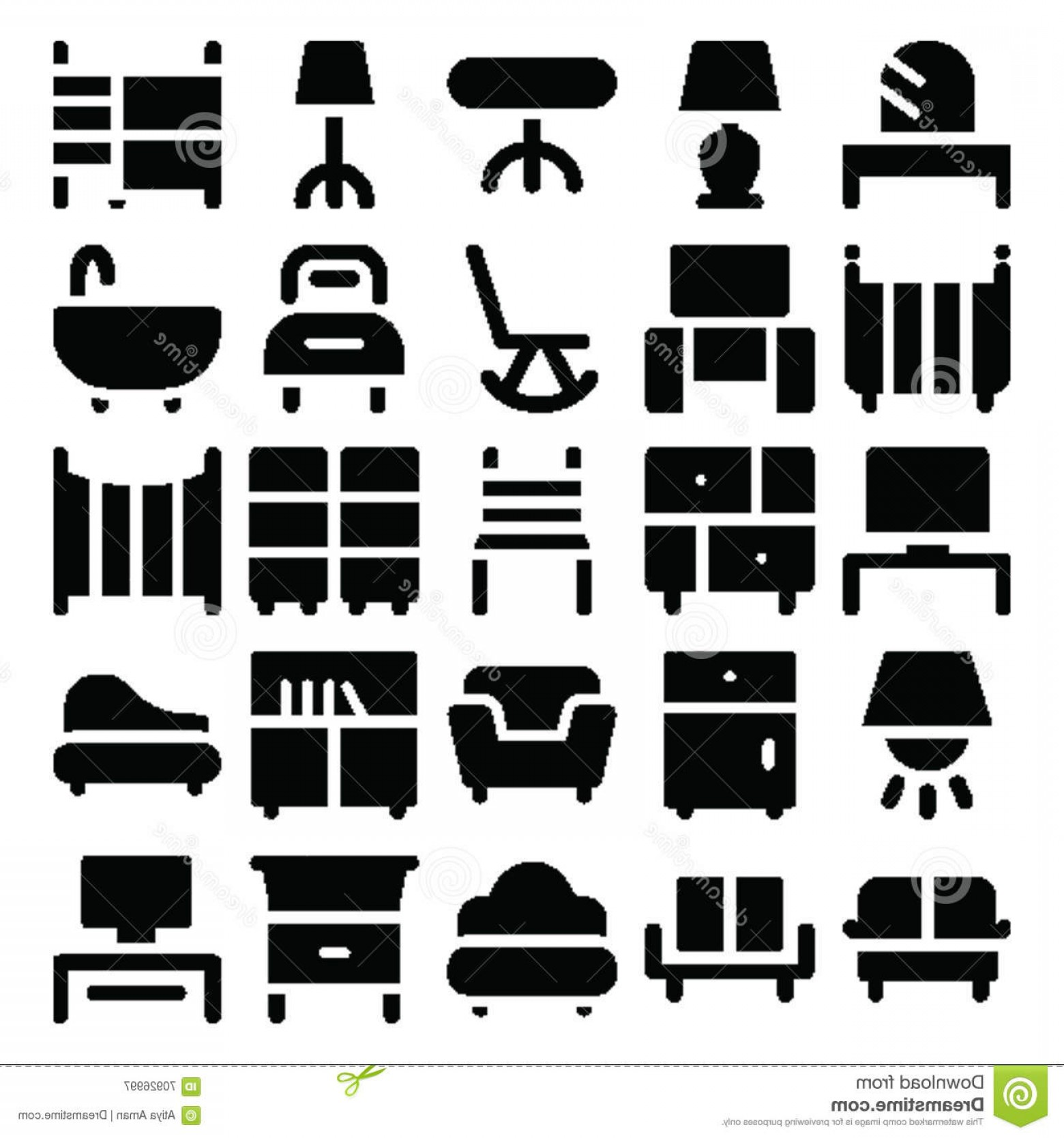 Back Of The Couch Vector: Stock Photo Building Furniture Vector Icons Take Trip Back Time Decorate New Buildings Pack You Will Love Using Image